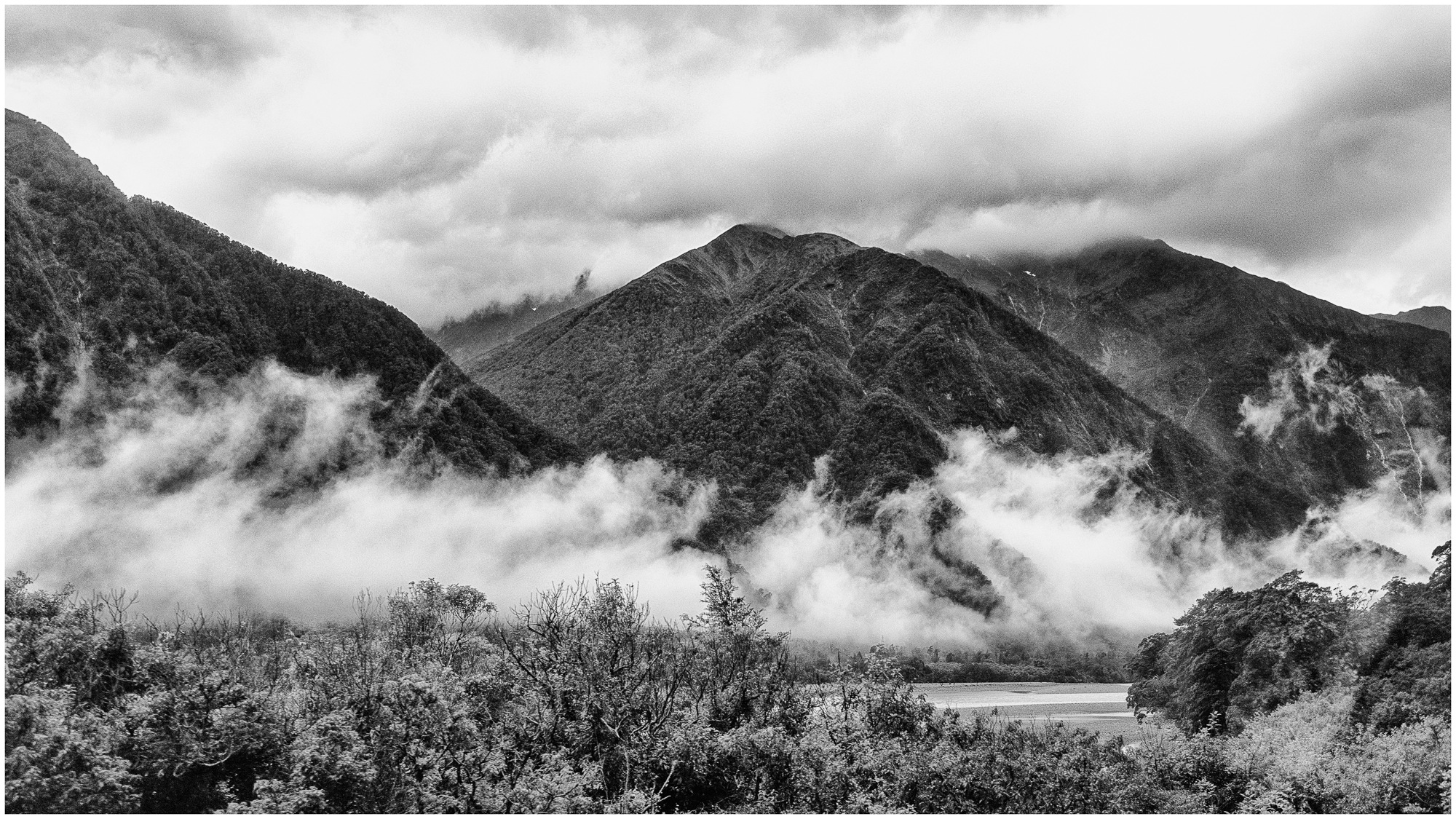 Views from Haast Pass along the Haast River, West Coast, New Zealand by Steve Director