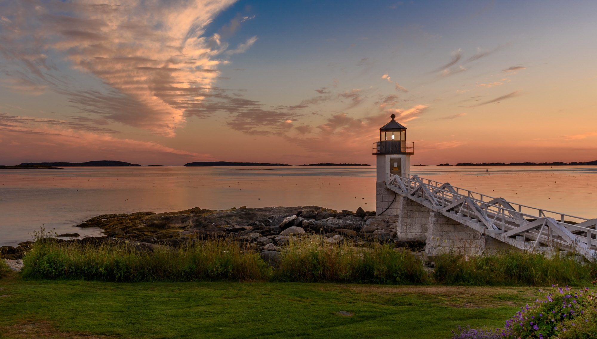 Marshall Point Lighthouse at Sunset by Steve Director