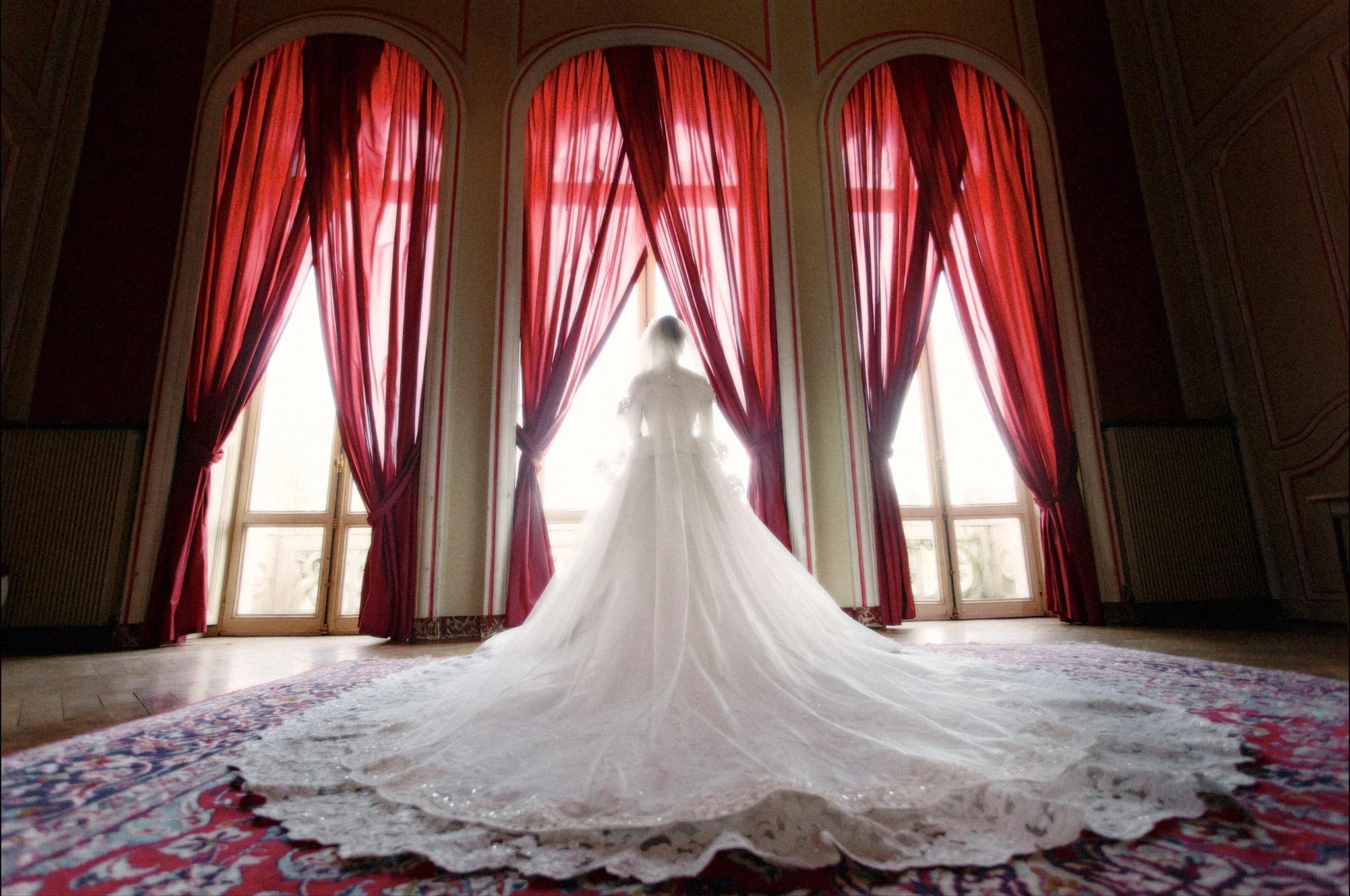 bride at the Chateau d'Esclimont by vinion