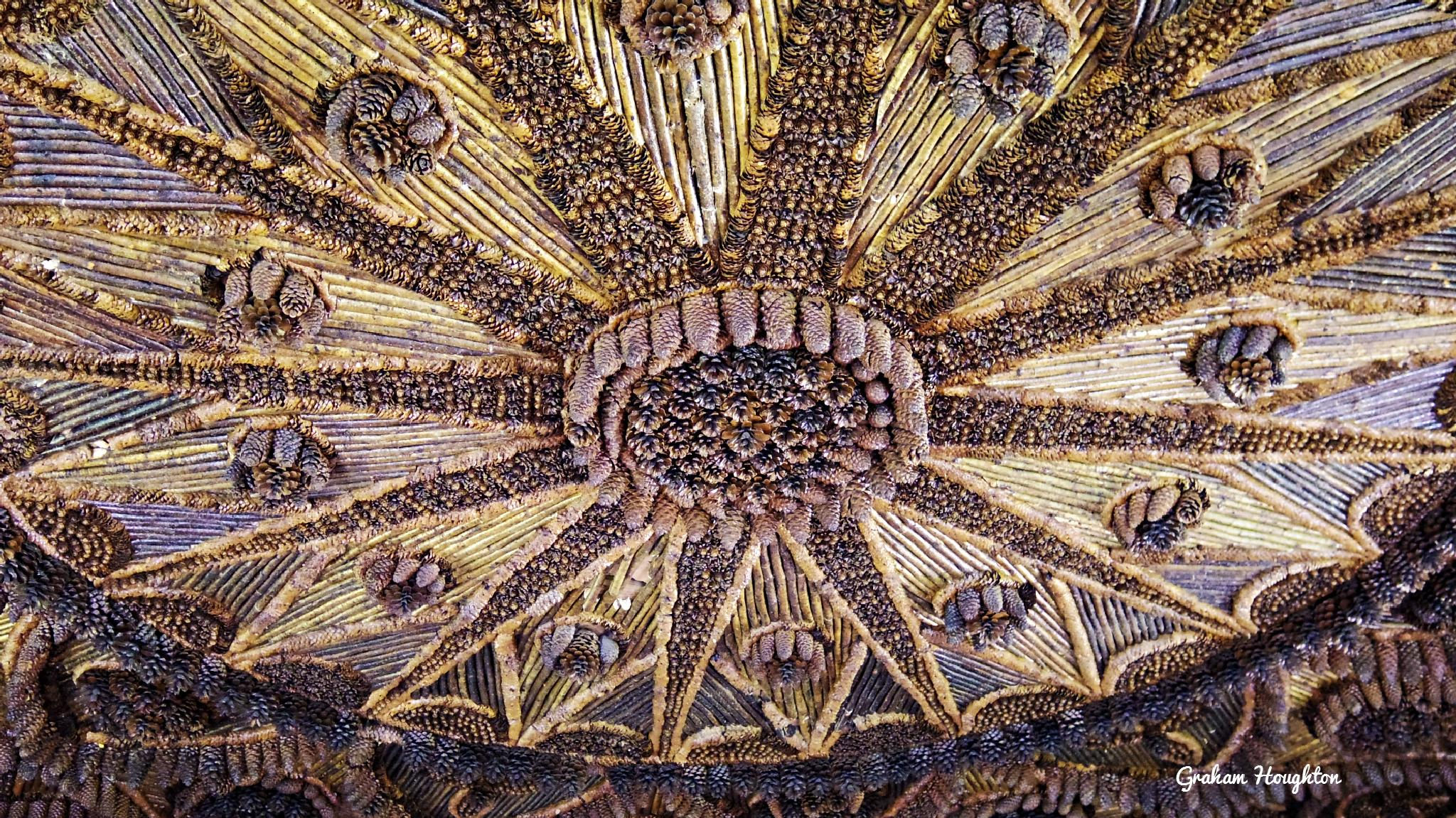 pine cone ceiling, Brodick castle, Arran by Graham Houghton