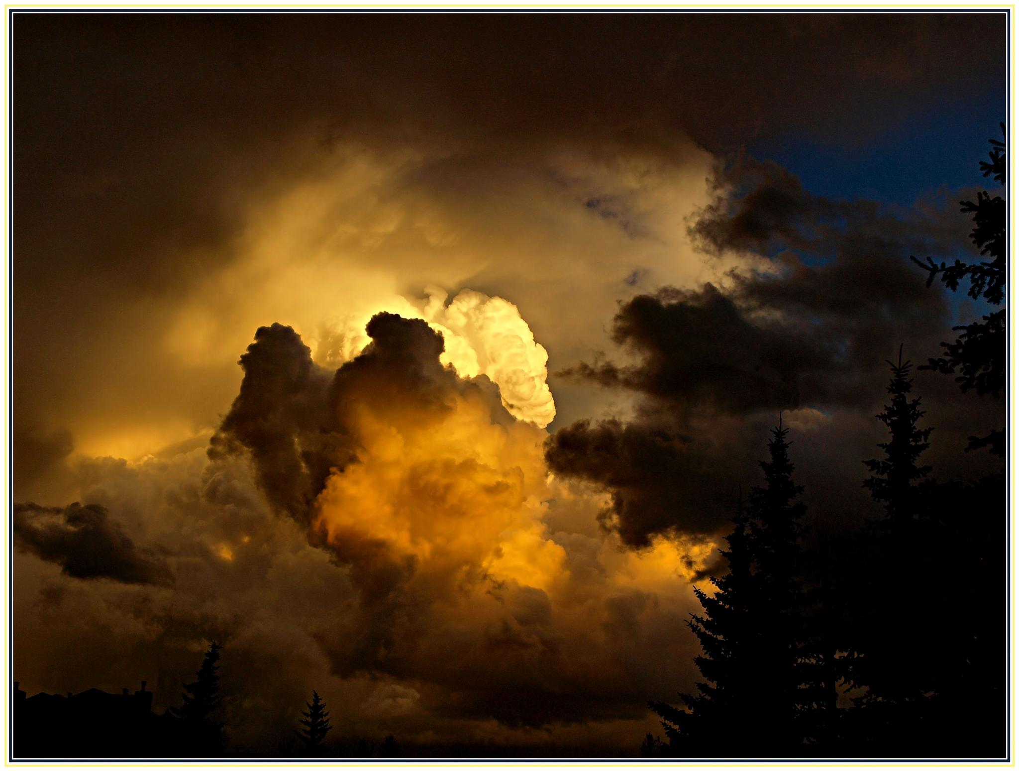 storm clouds at sunset by redskyephotography