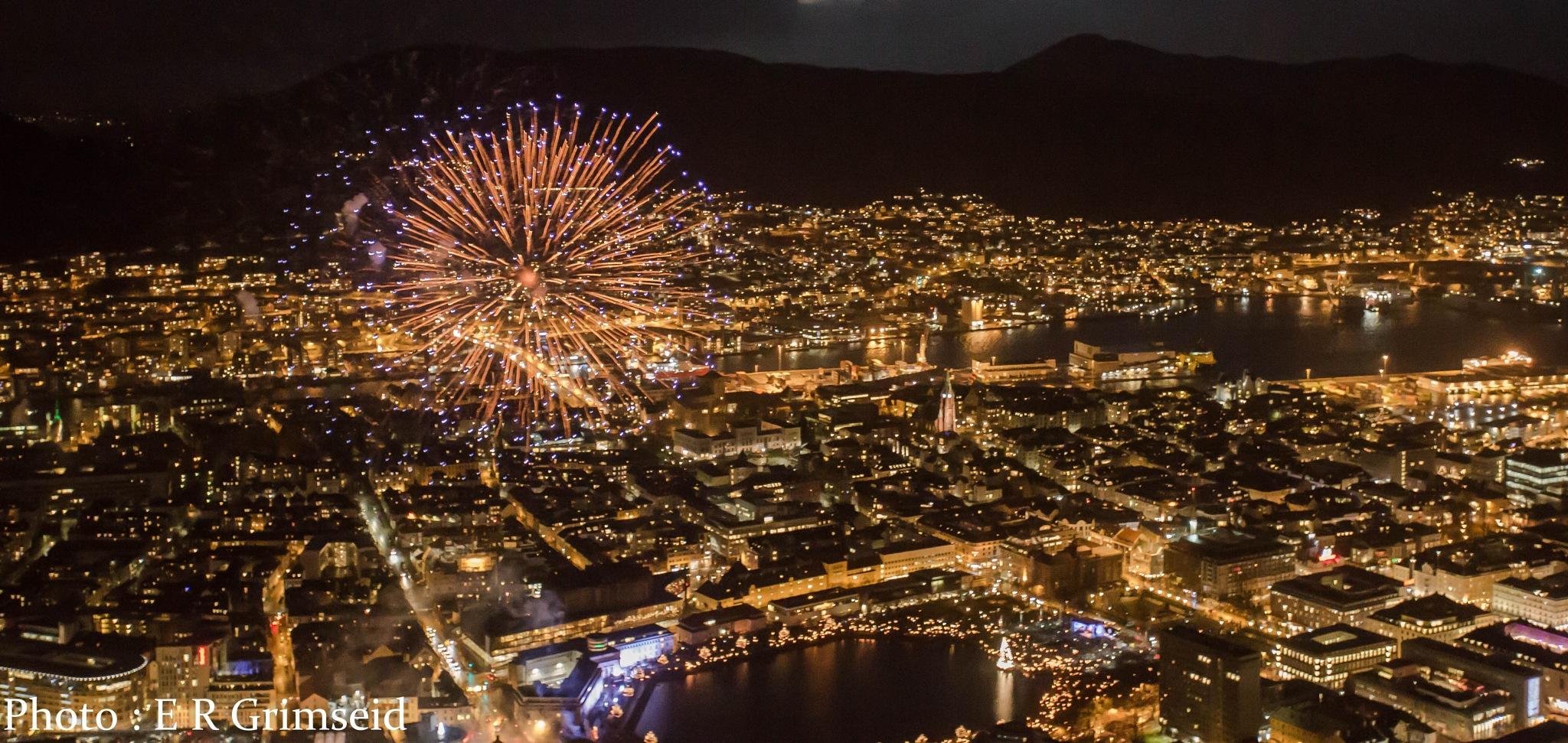 Bergen Festival of Light by Espen Rune Grimseid
