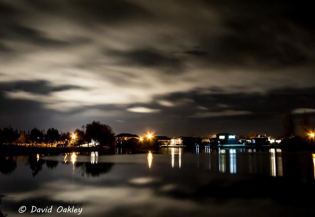 Night reflections by David Oakley