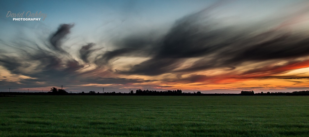 Mid Cantebury sunset by David Oakley