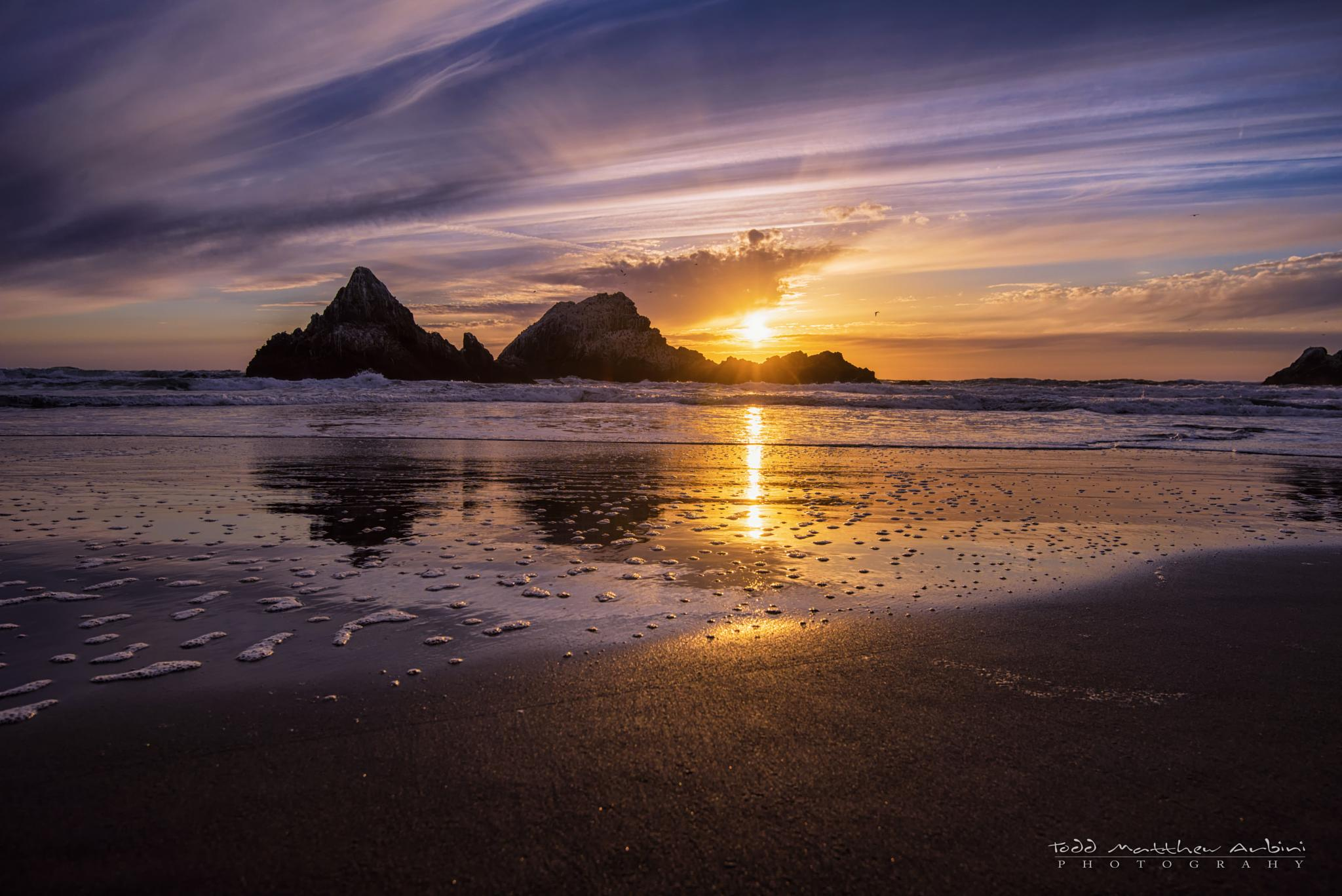 Seal Rock Sunset by Todd Arbini