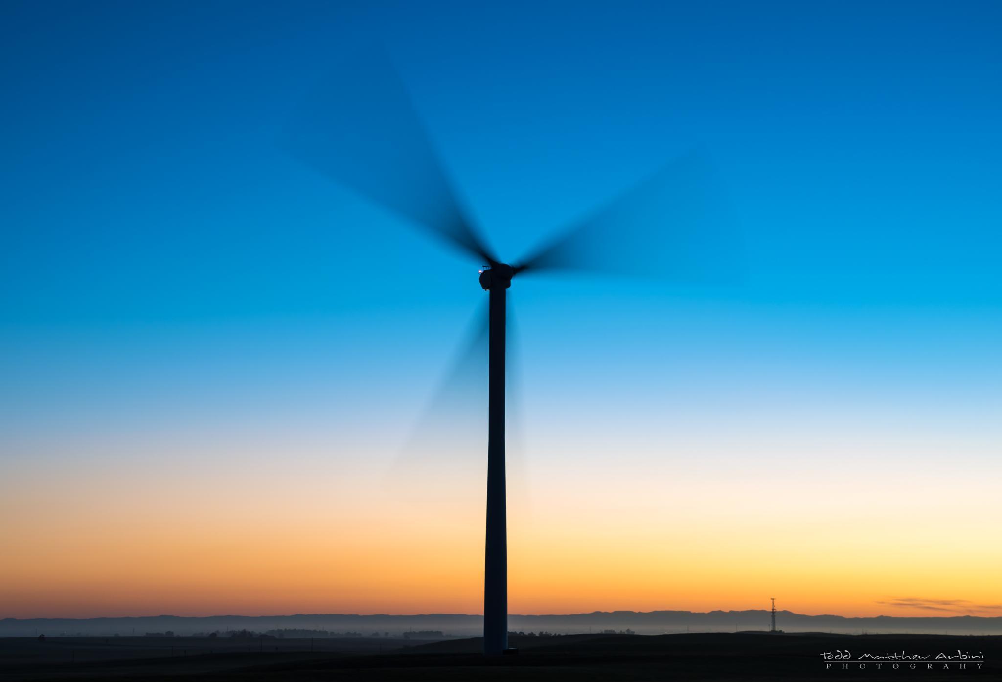 Blue Hour Wind Turbine by Todd Arbini