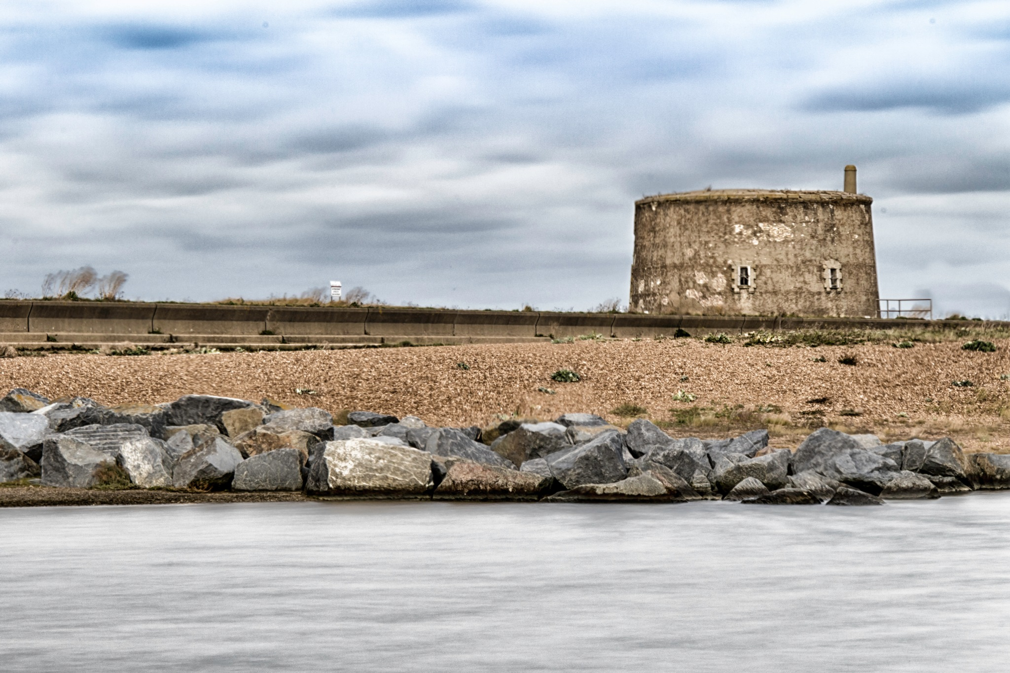 Martello Tower, Clouds and Seascape by AlGurr