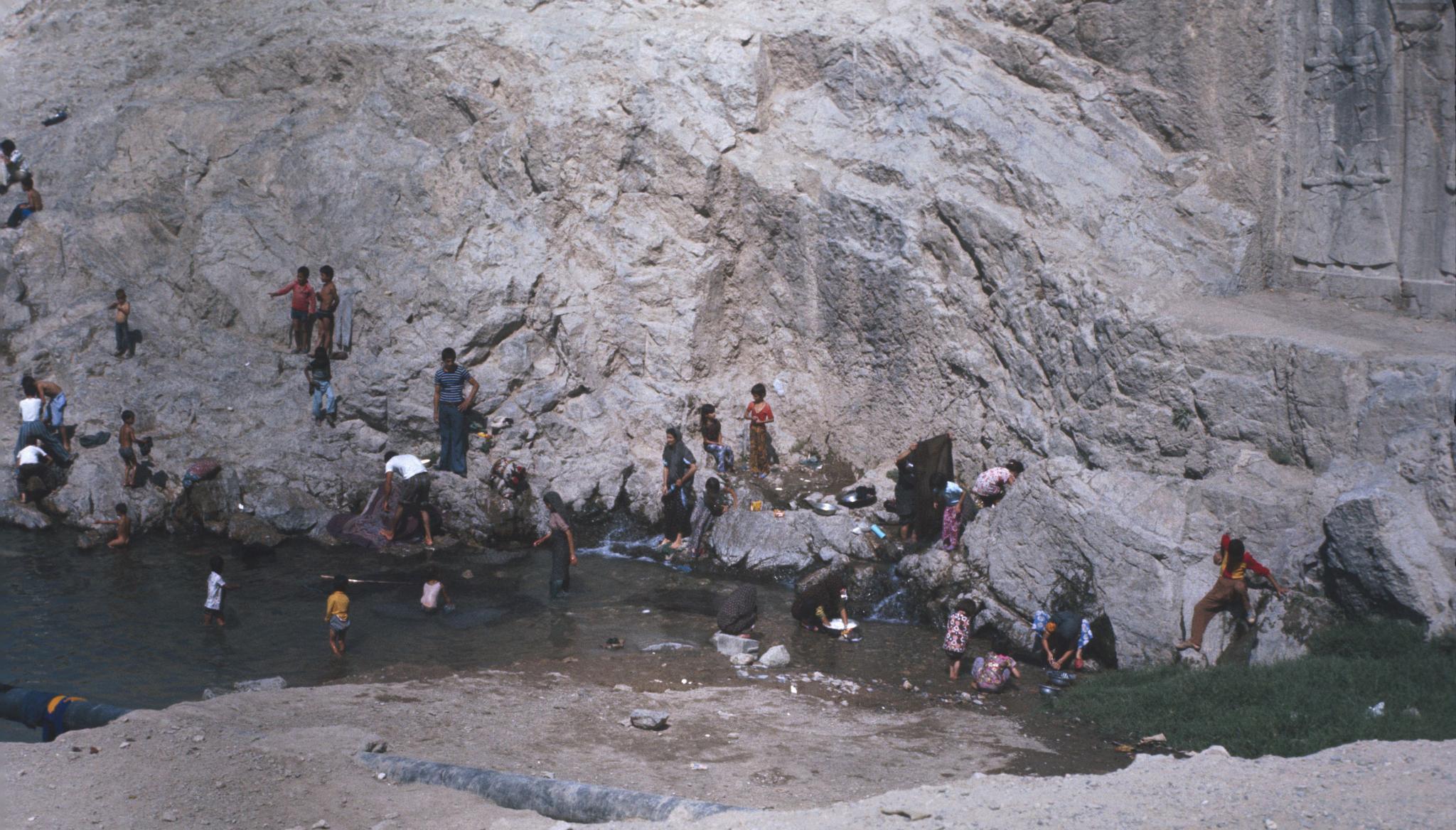 Carpet Washing - Rey, Iran Circa 1975/6 by escargo2k