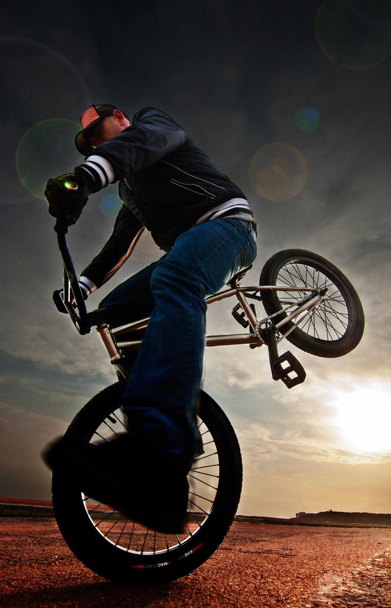 BMX nose manual by kris greenwell