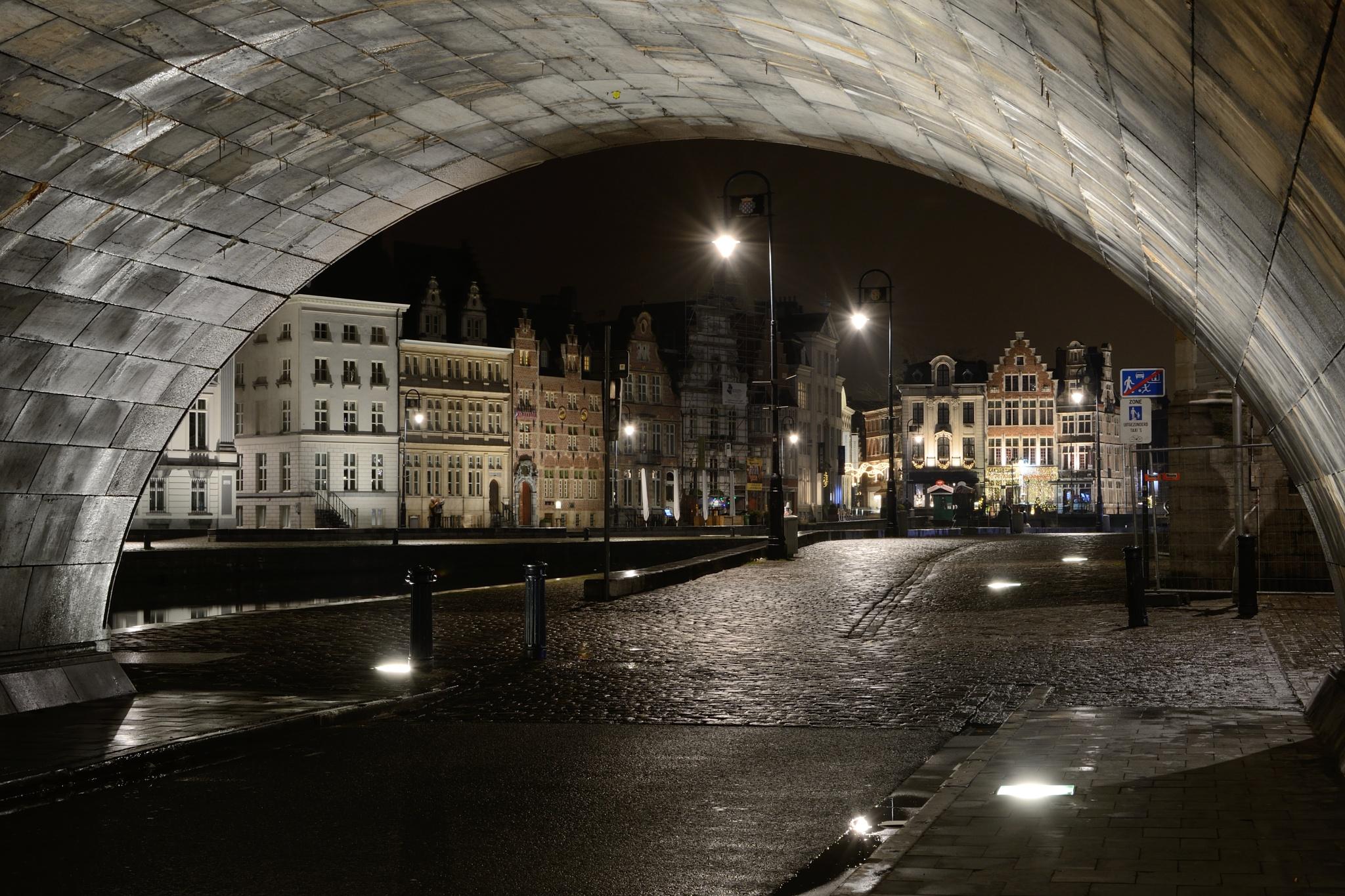 Graslei Ghent, Belgium by Wim Byl