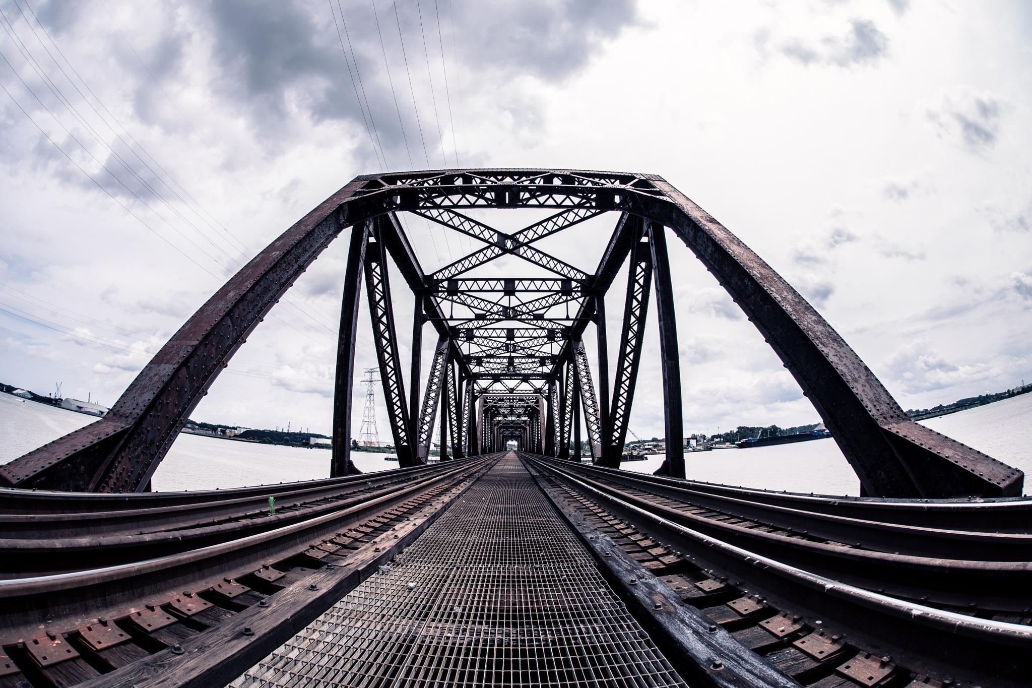 Abandoned Railroad Bridge by AndrewLillibridge