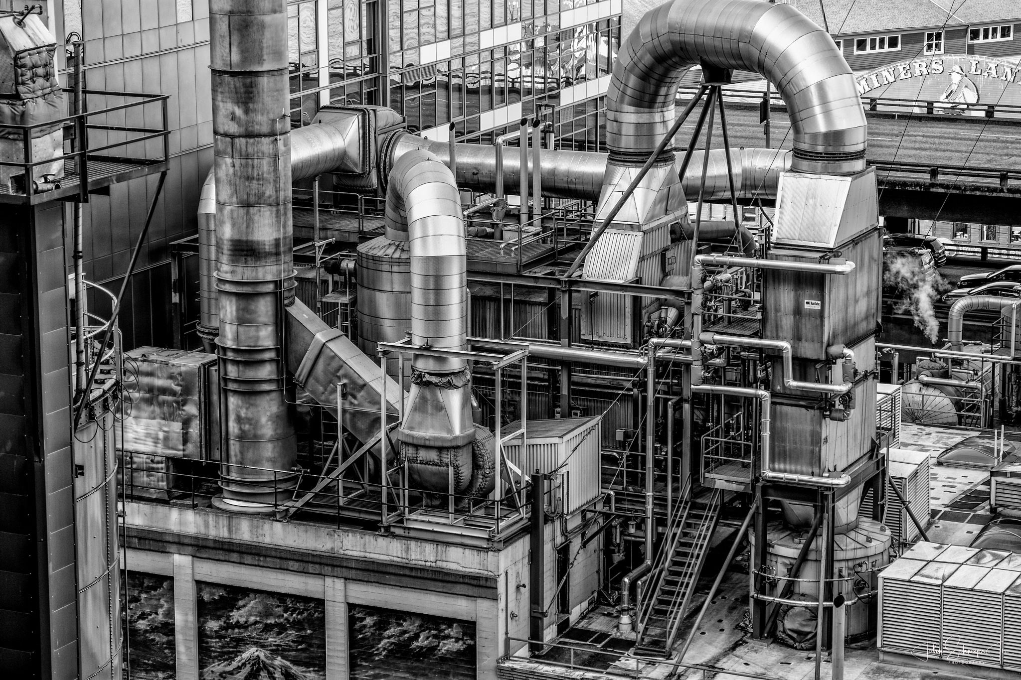 Industrial Plant by John Schneyer