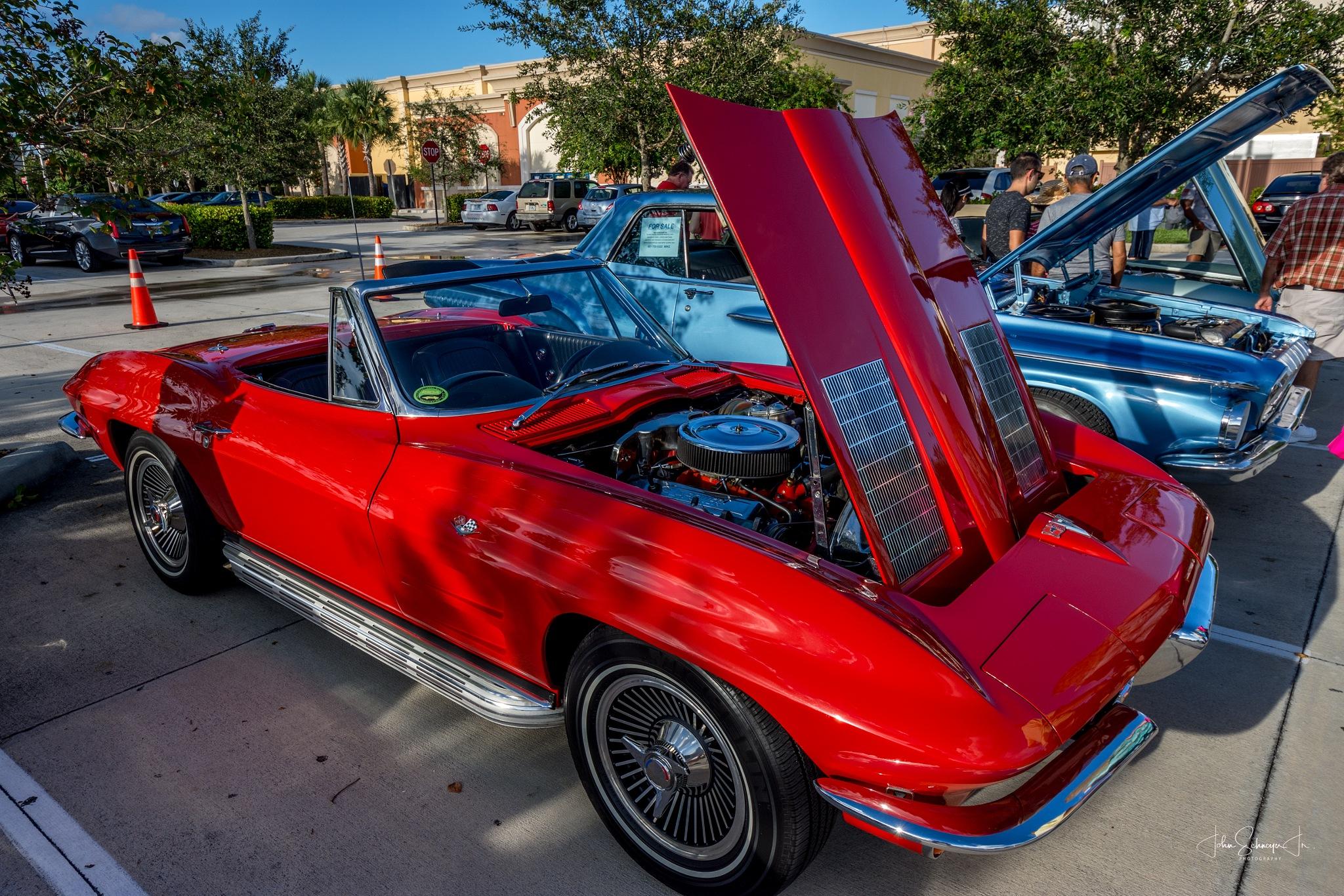 Sweet Red Corvette by John Schneyer