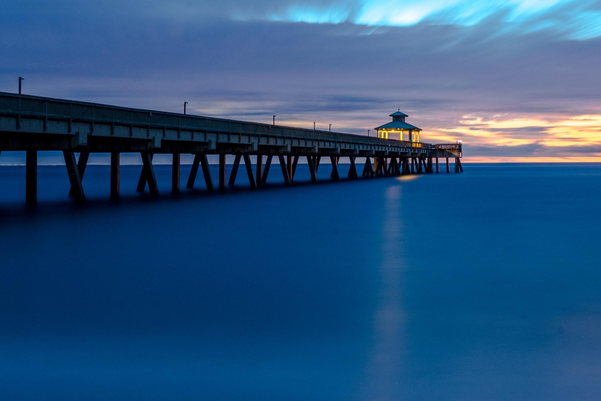 Sunrise Long Exposure by John Schneyer