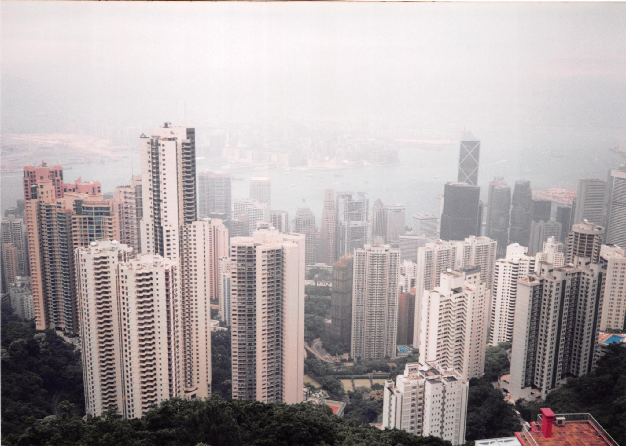 Hong Kong Skyline by John Schneyer