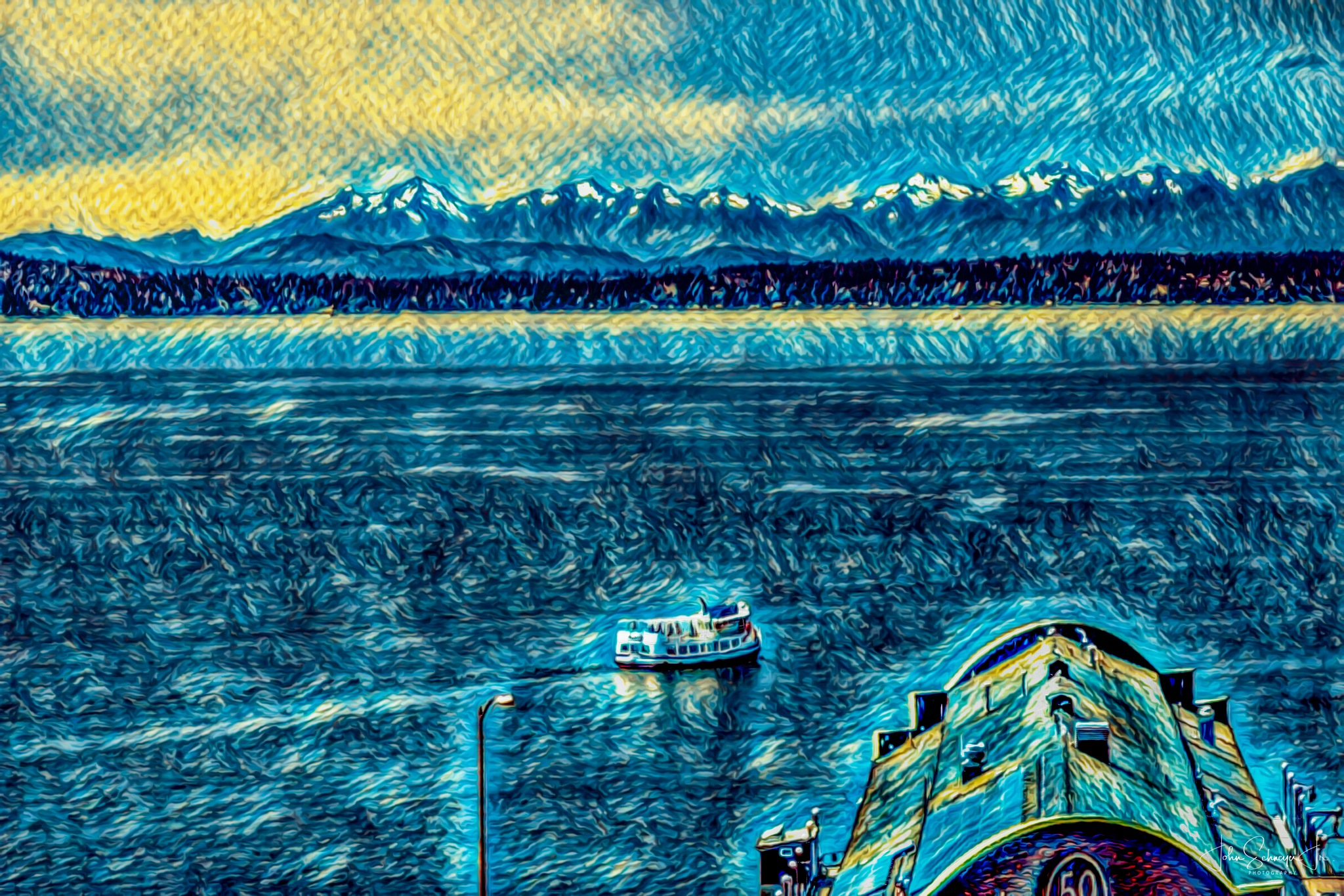 Sailing to the Mountains by John Schneyer