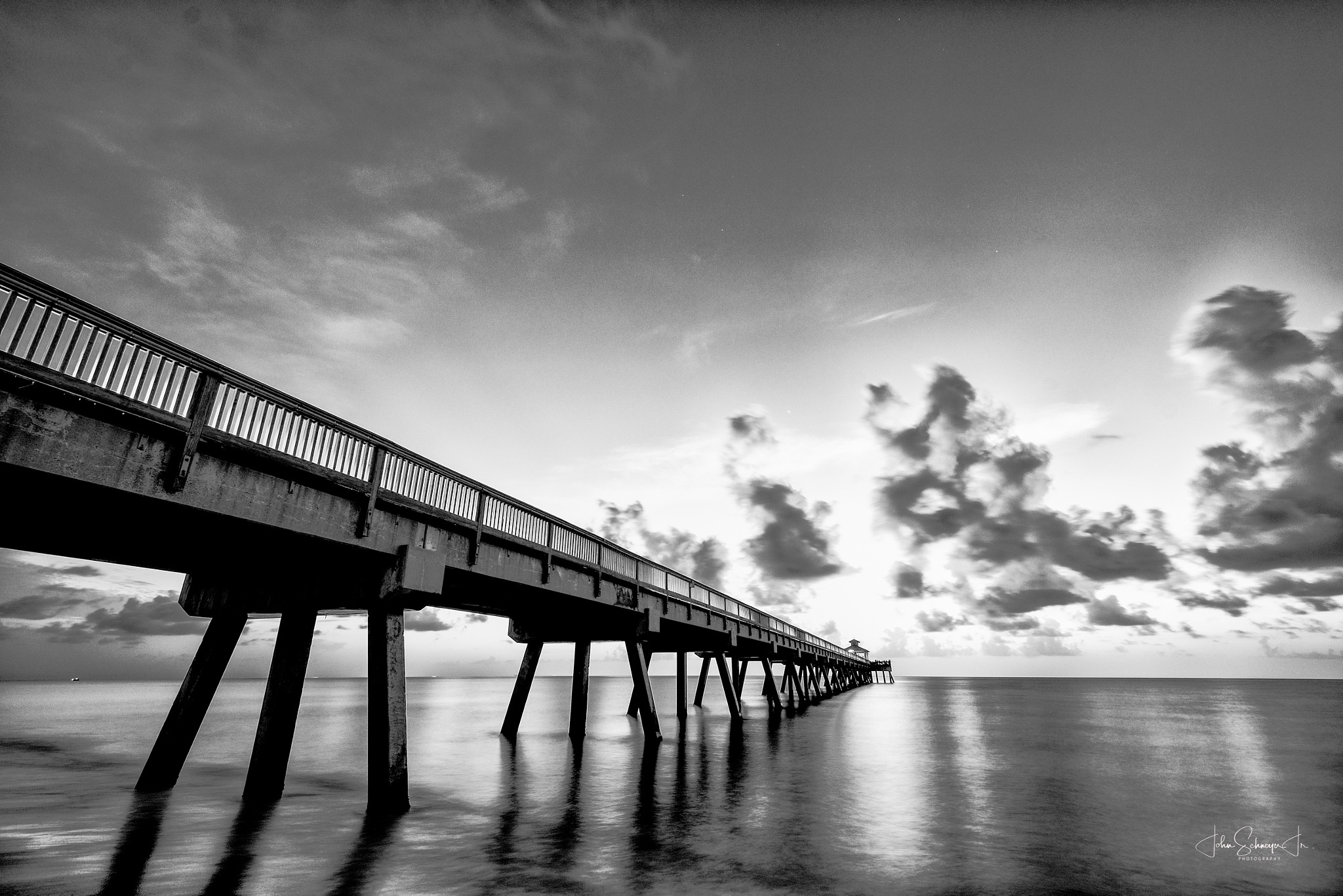 B&W Pier by John Schneyer