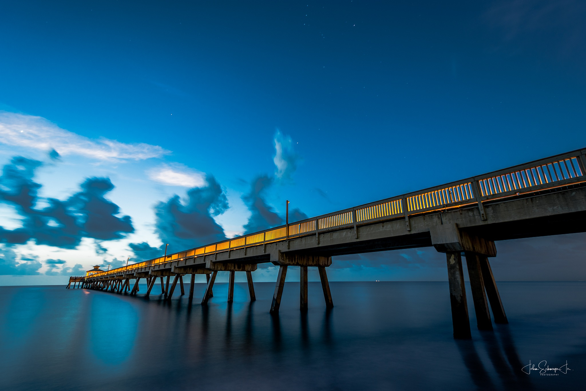 Pier Looking South by John Schneyer