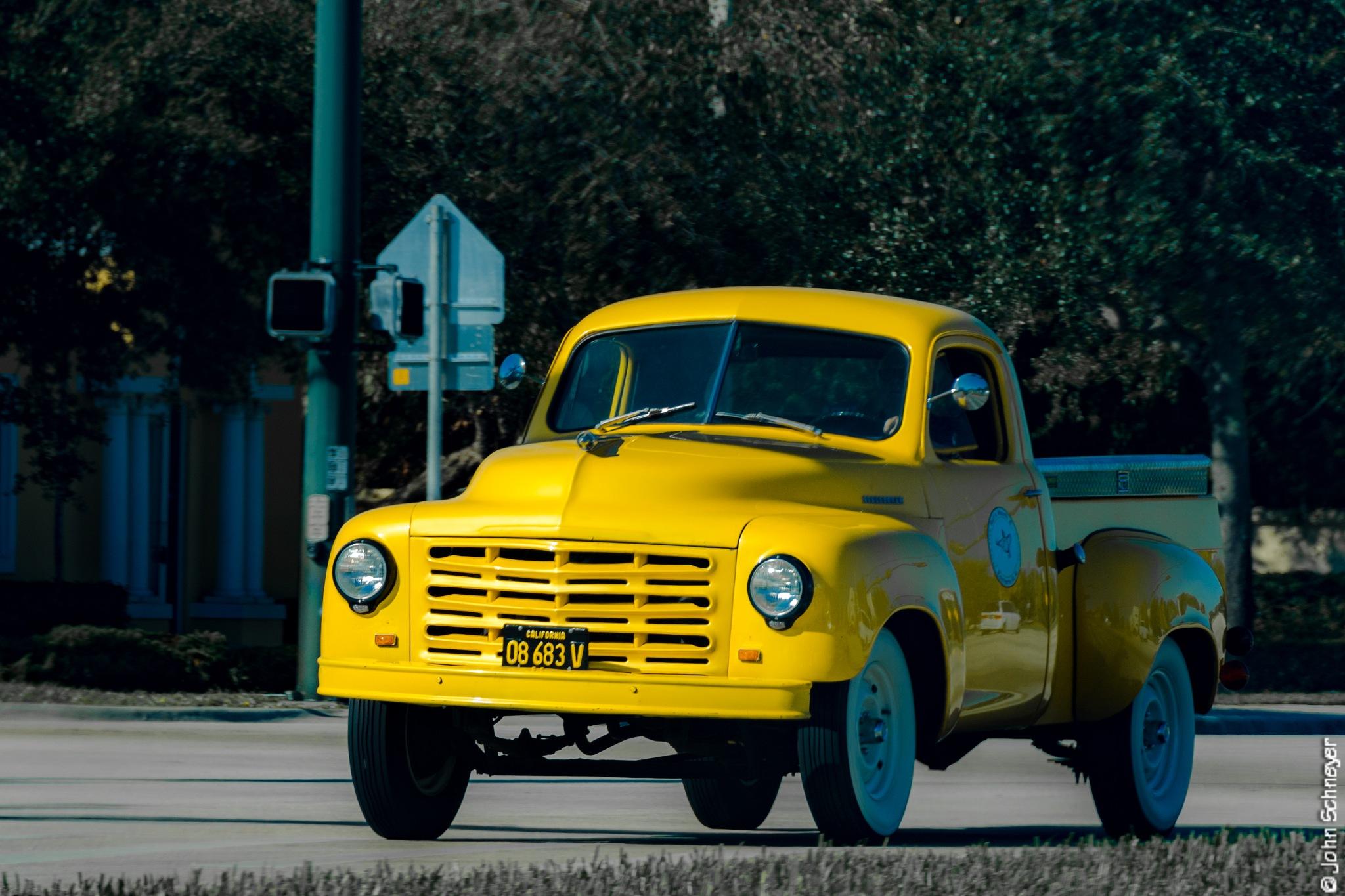 Yellow Truck by John Schneyer