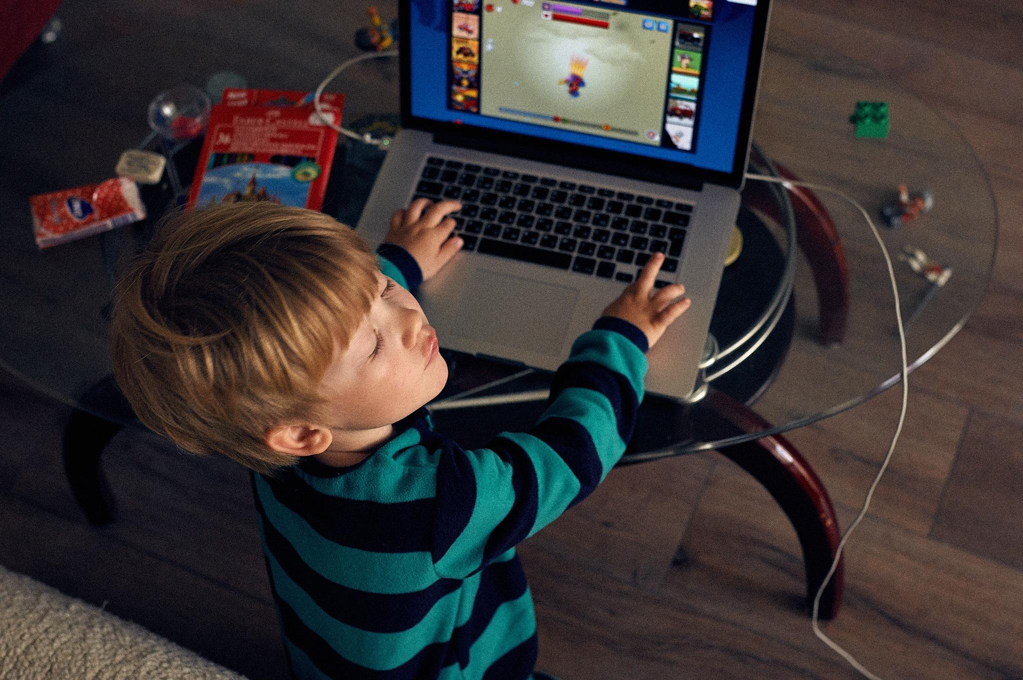 Young gamer by Konstantin Kovalev