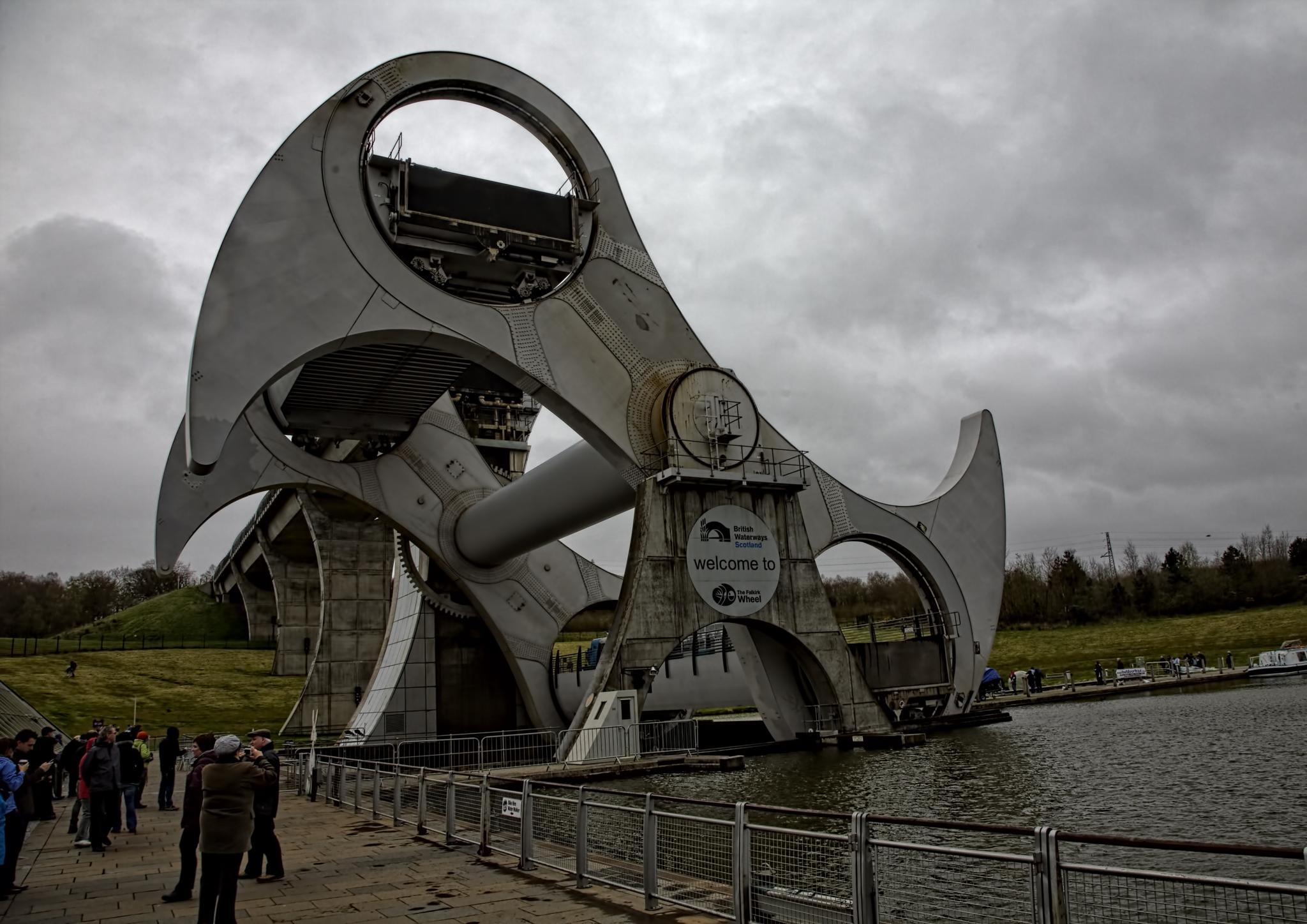 The Falkirk Wheel. by Peter Ellison