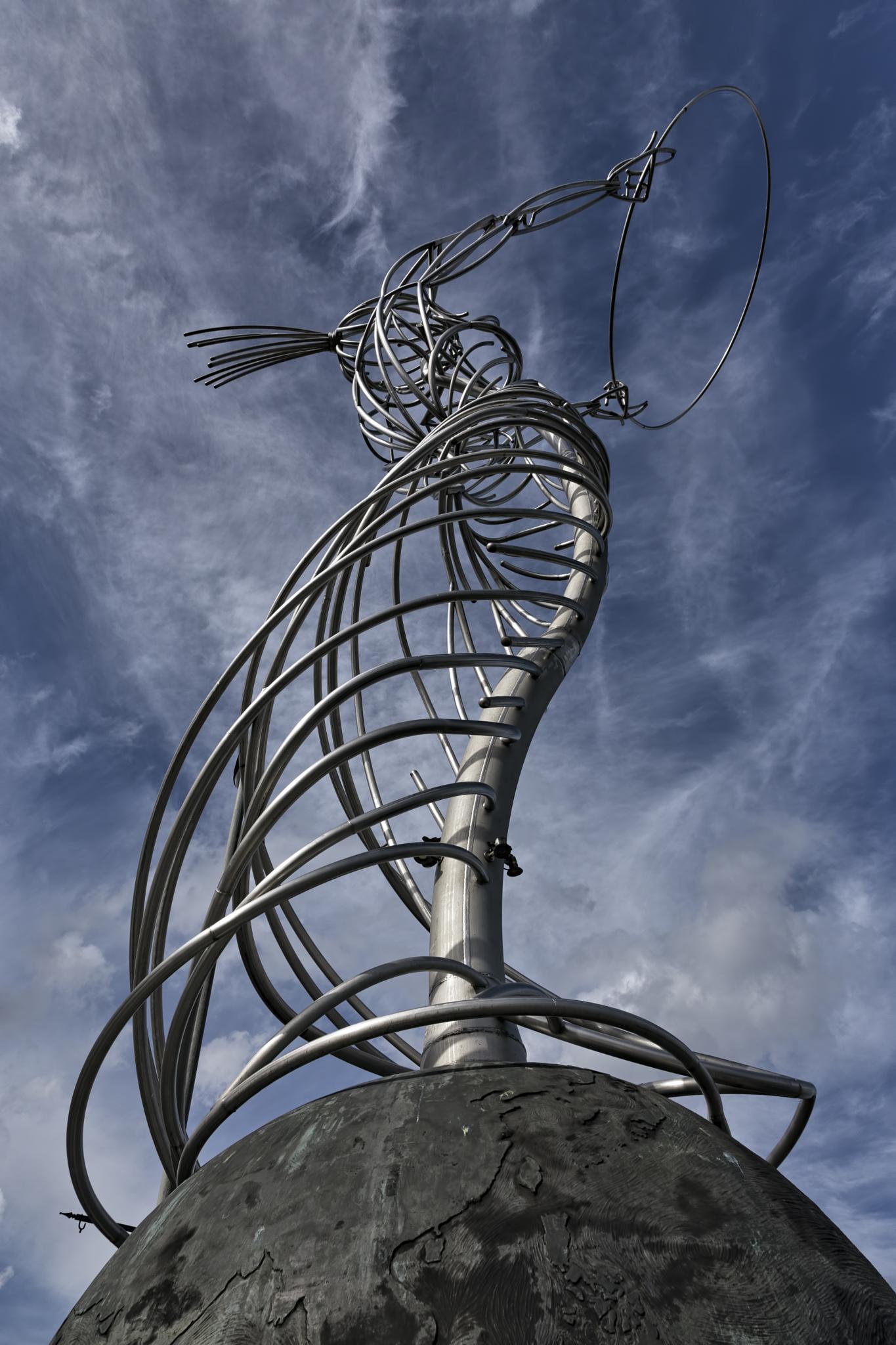 Hula-hoop girl 2. by Peter Ellison