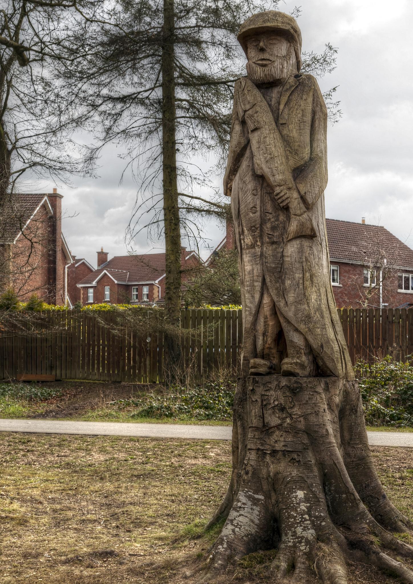 Tree sculpture. by Peter Ellison