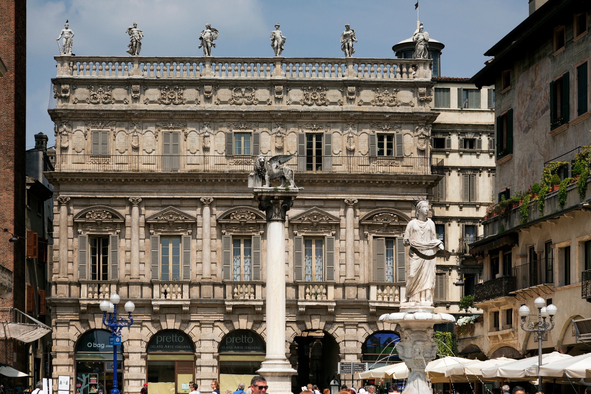 Piazza dell Erbe - 2 of 3 by Peter Ellison