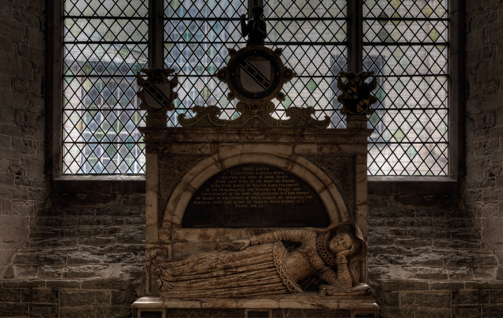 Mary Evre - resting since 1612 by Peter Ellison
