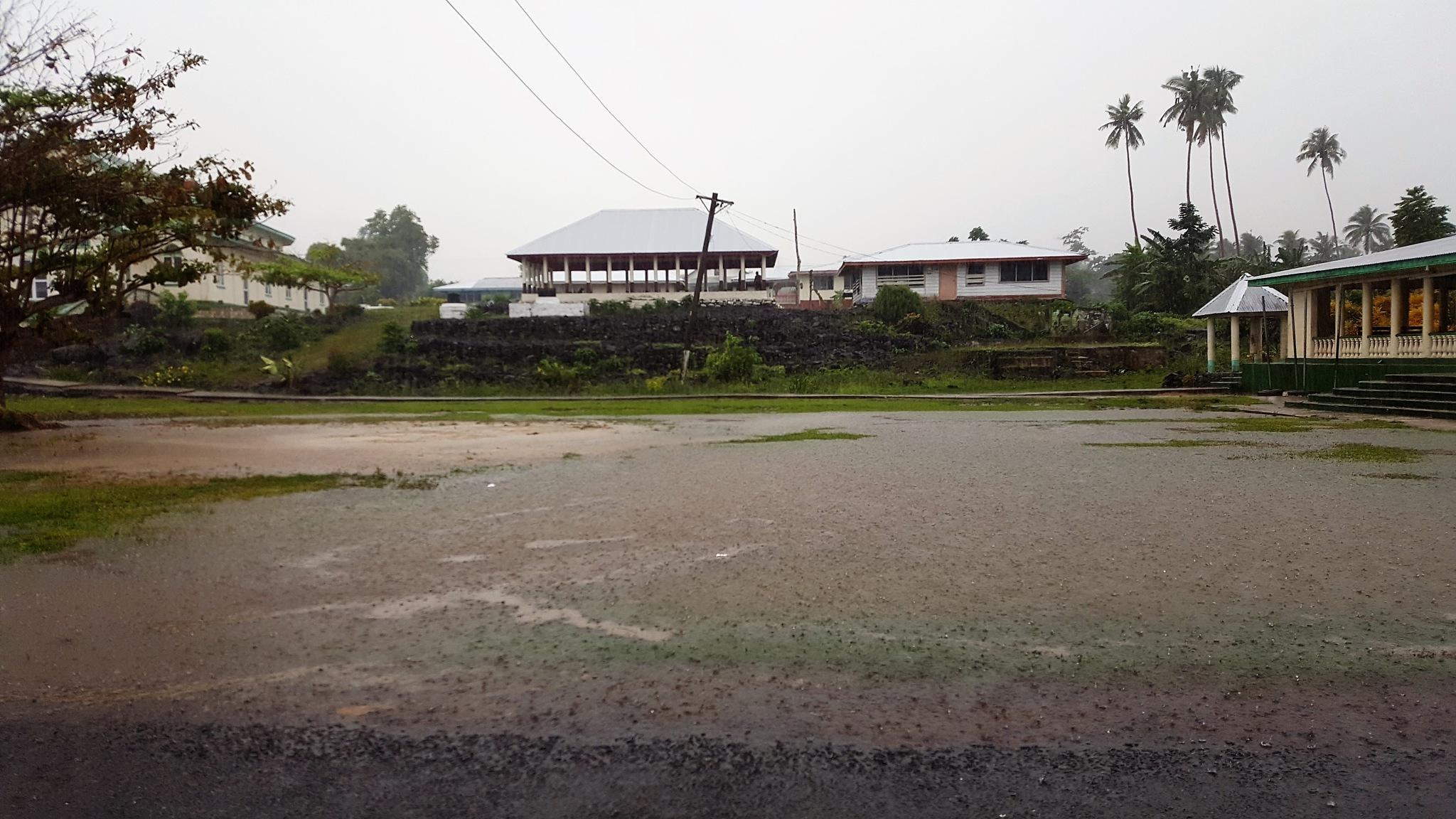 Samoan Village in the Rain by Luigi Cappel