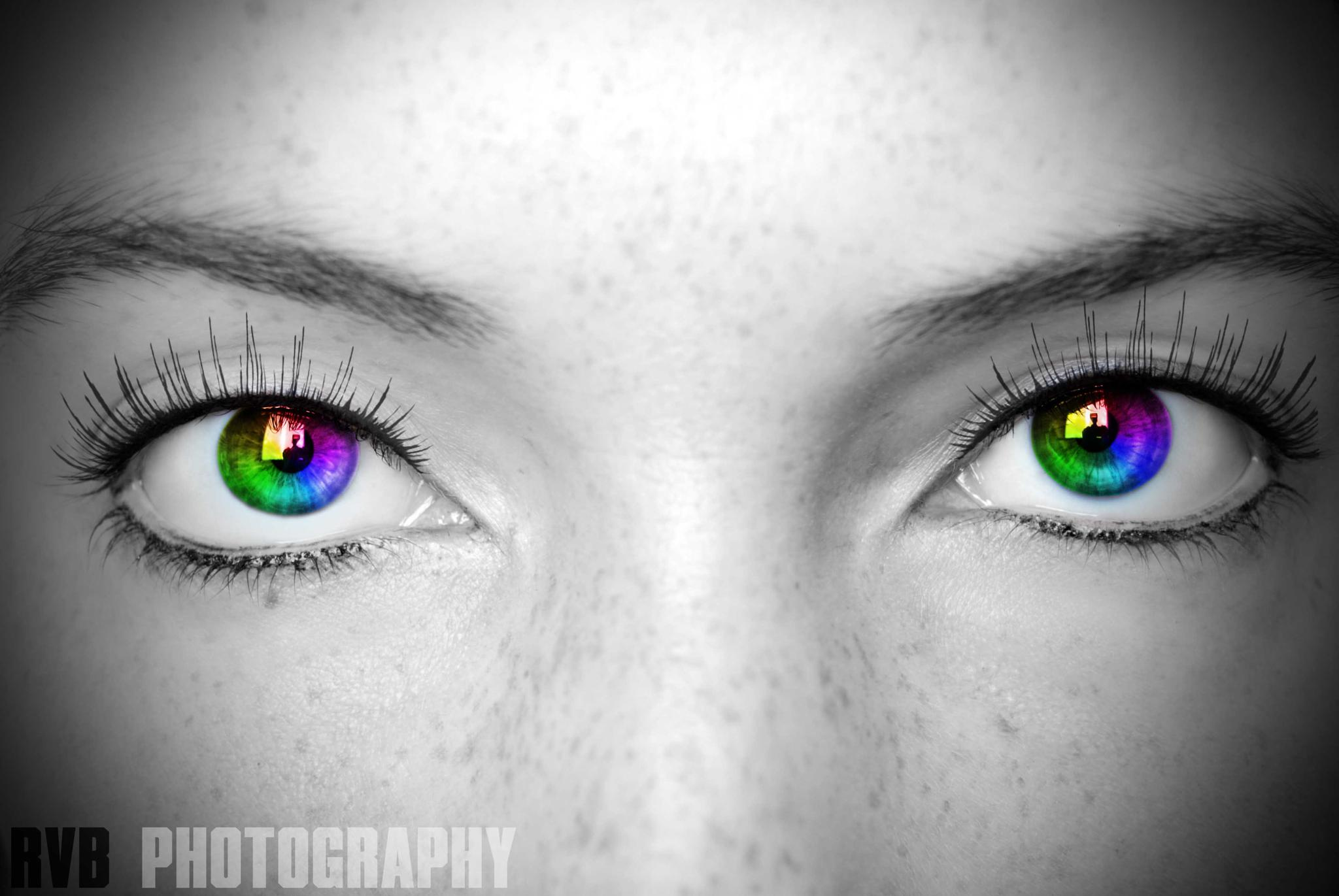 Rainbow Eyes by Rvbphotography