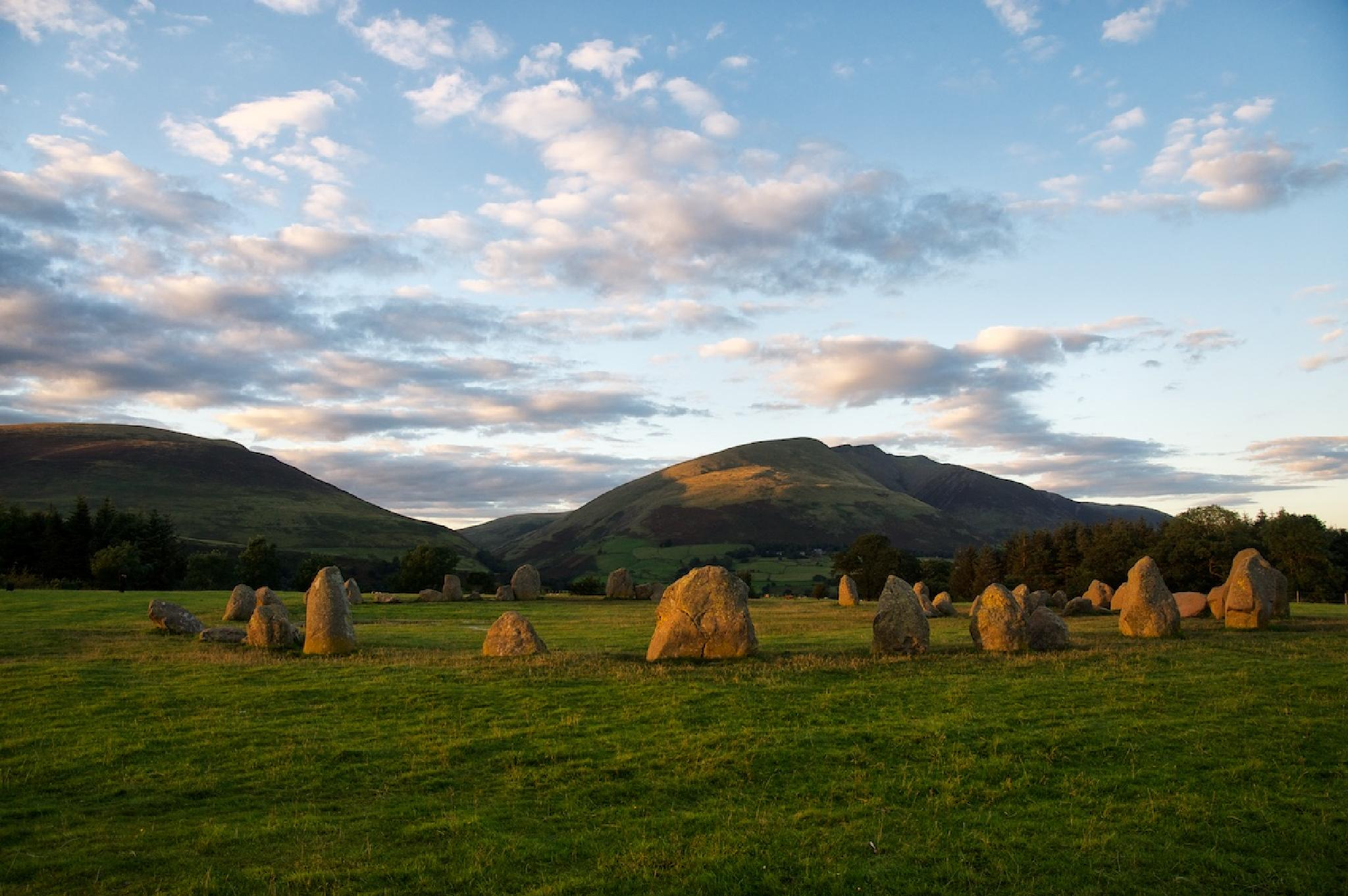 Evening light on Blencathra by Ian K. Iles
