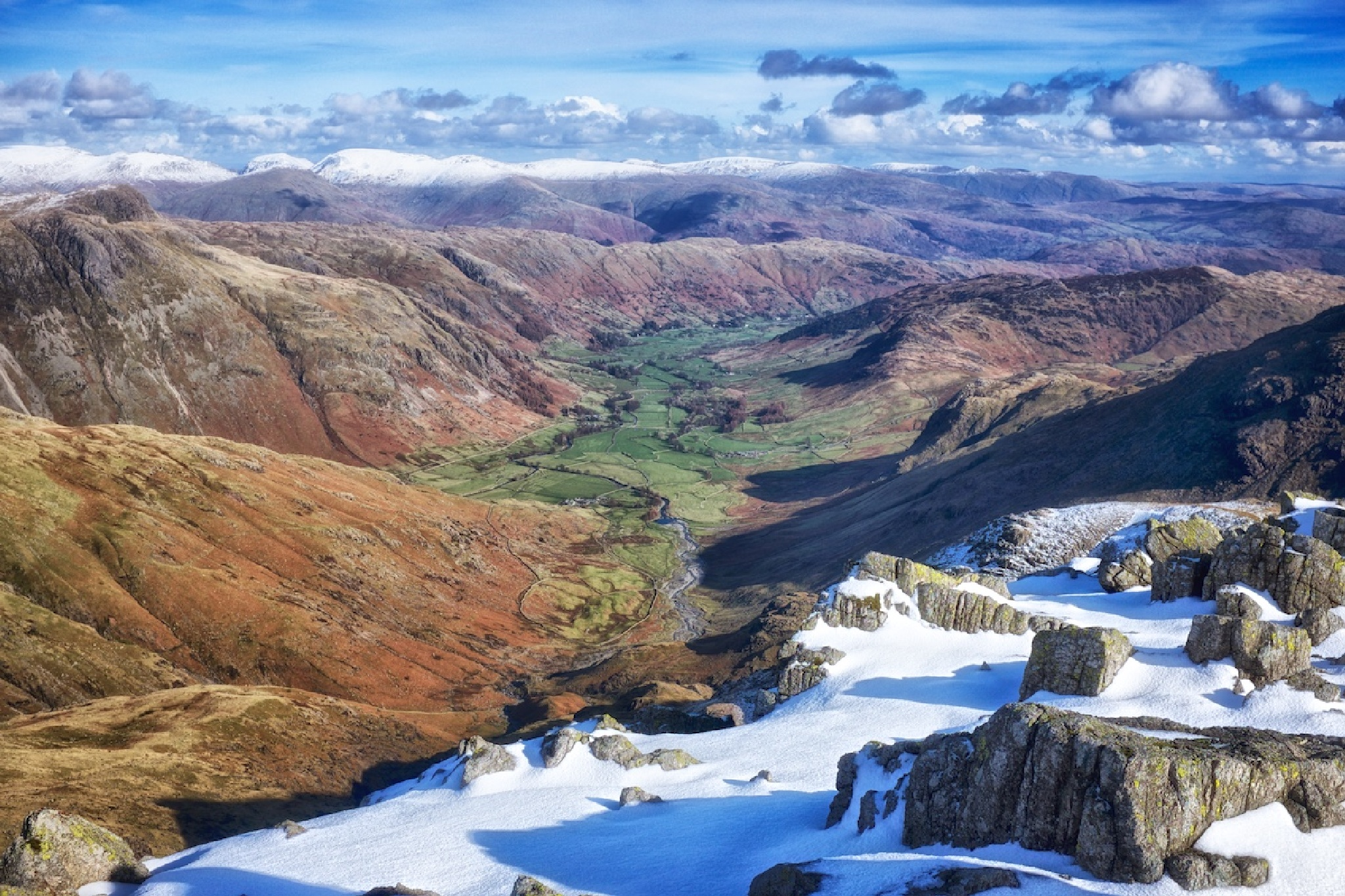 View into Langdale by Ian K. Iles
