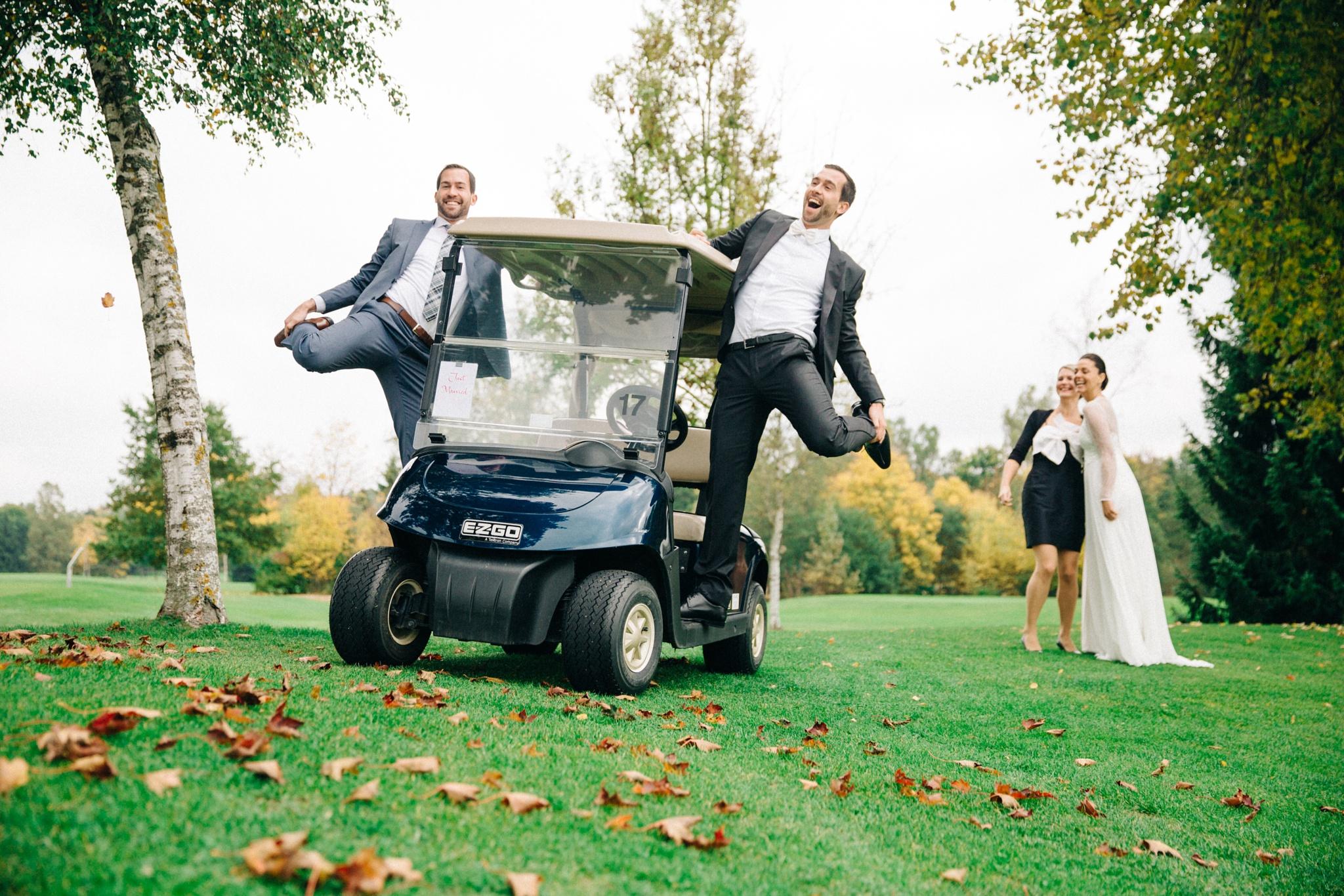 Fun shot at wedding by Richard Wesner