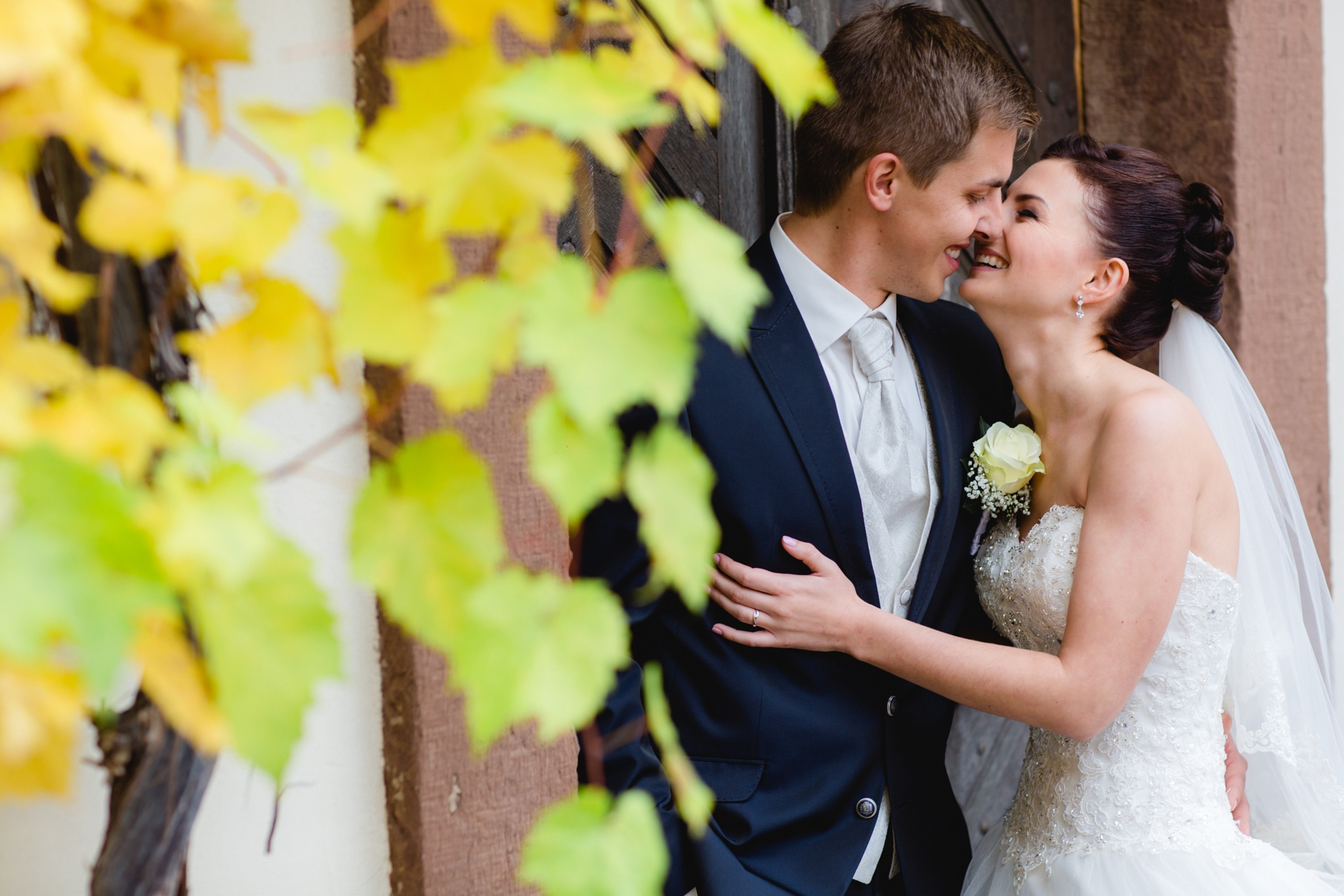 Bridal Couple Abbey by Richard Wesner