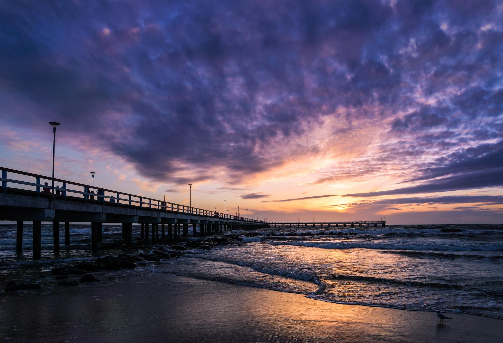 Evening bridge by DariusBirstonas