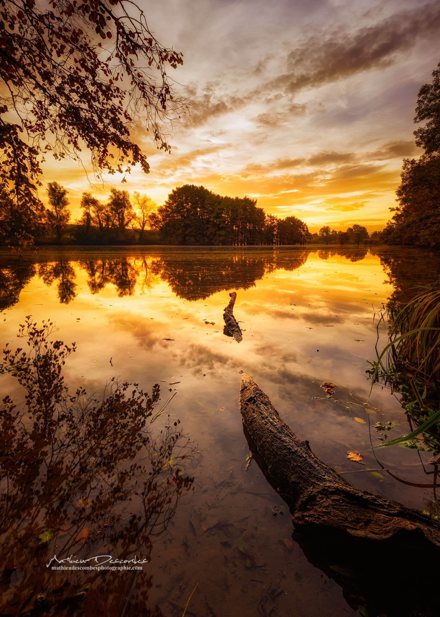 Sunrise reflection by Mathieu Descombes Photographie