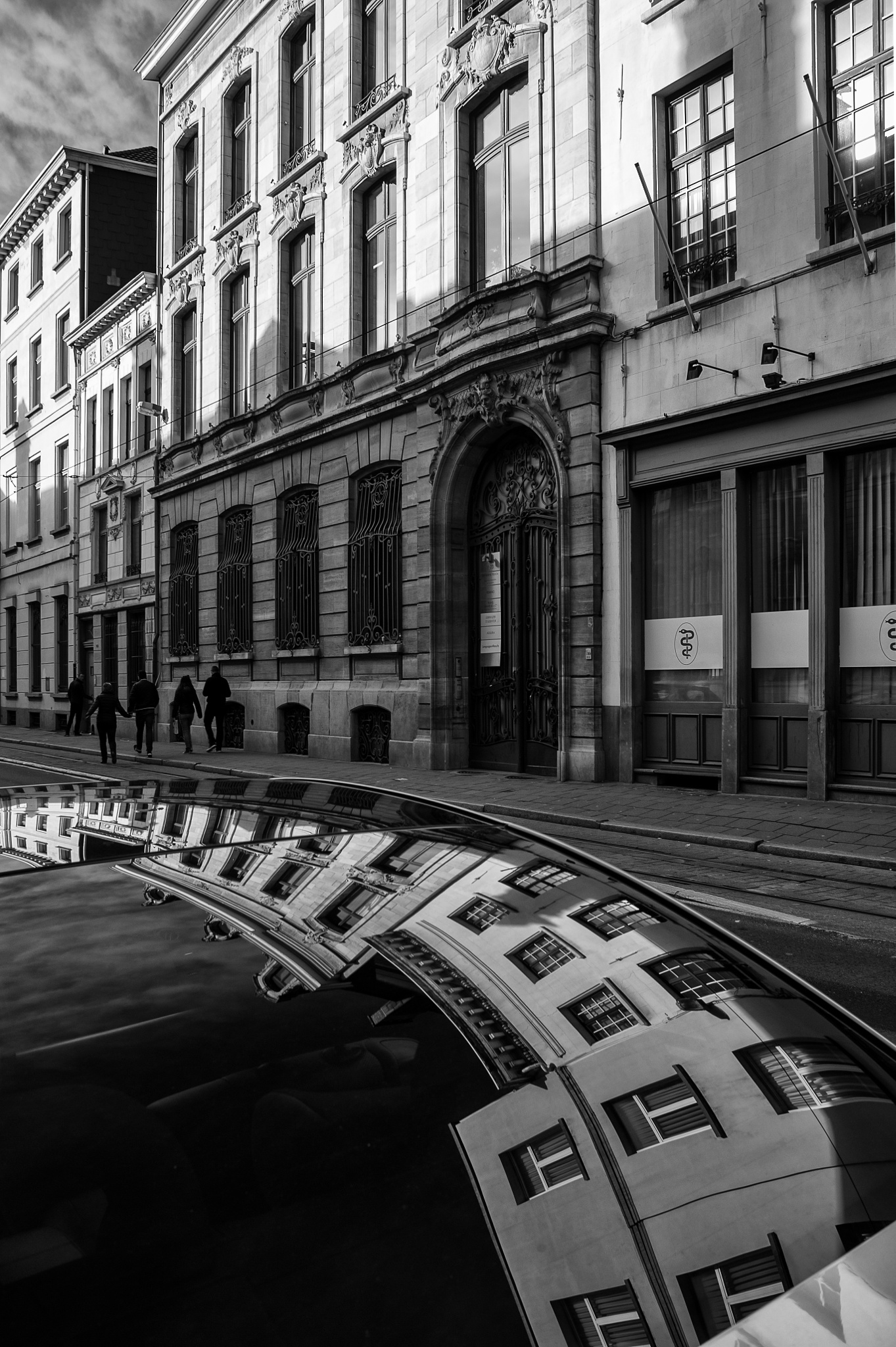 Architecture reflections in Antwerpen by Paul Hoogeveen Photography