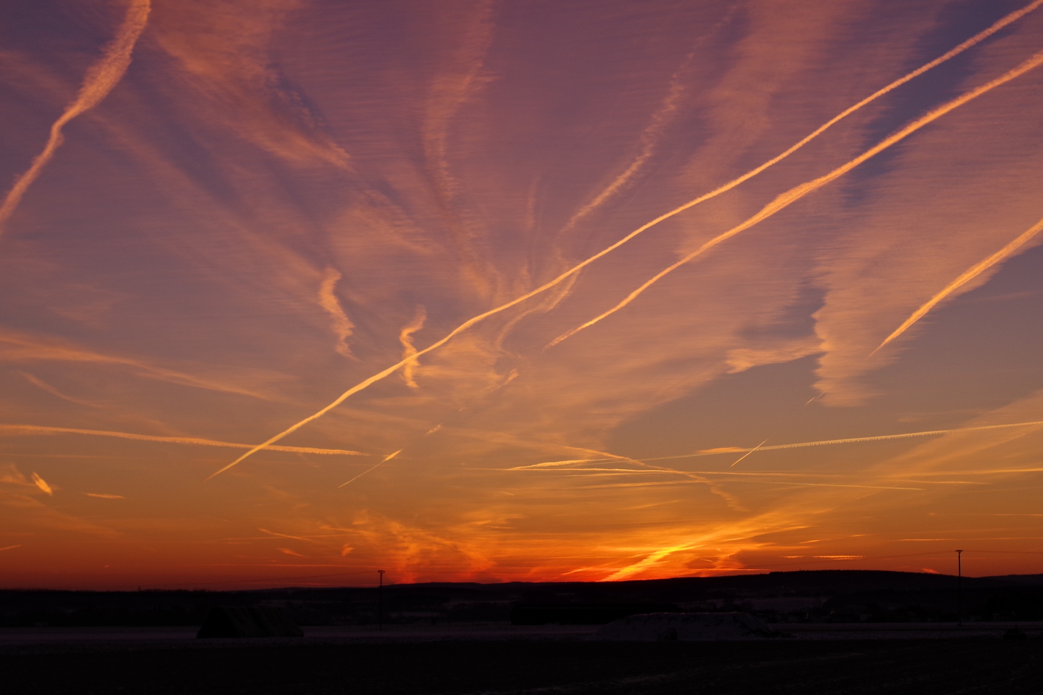 scratched sky by Heike  Block