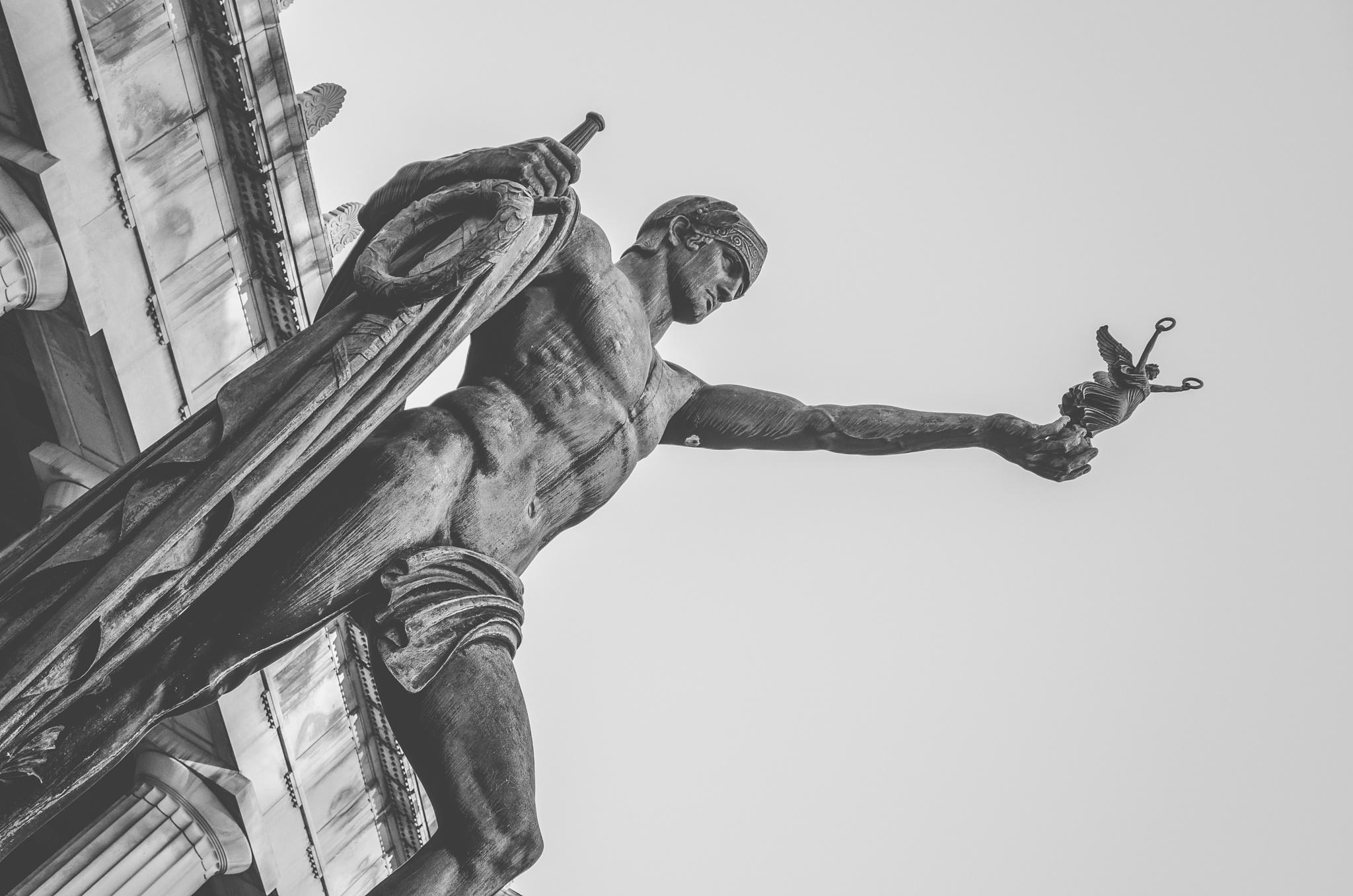 War Memorial Statue 3 by Carlene Hall