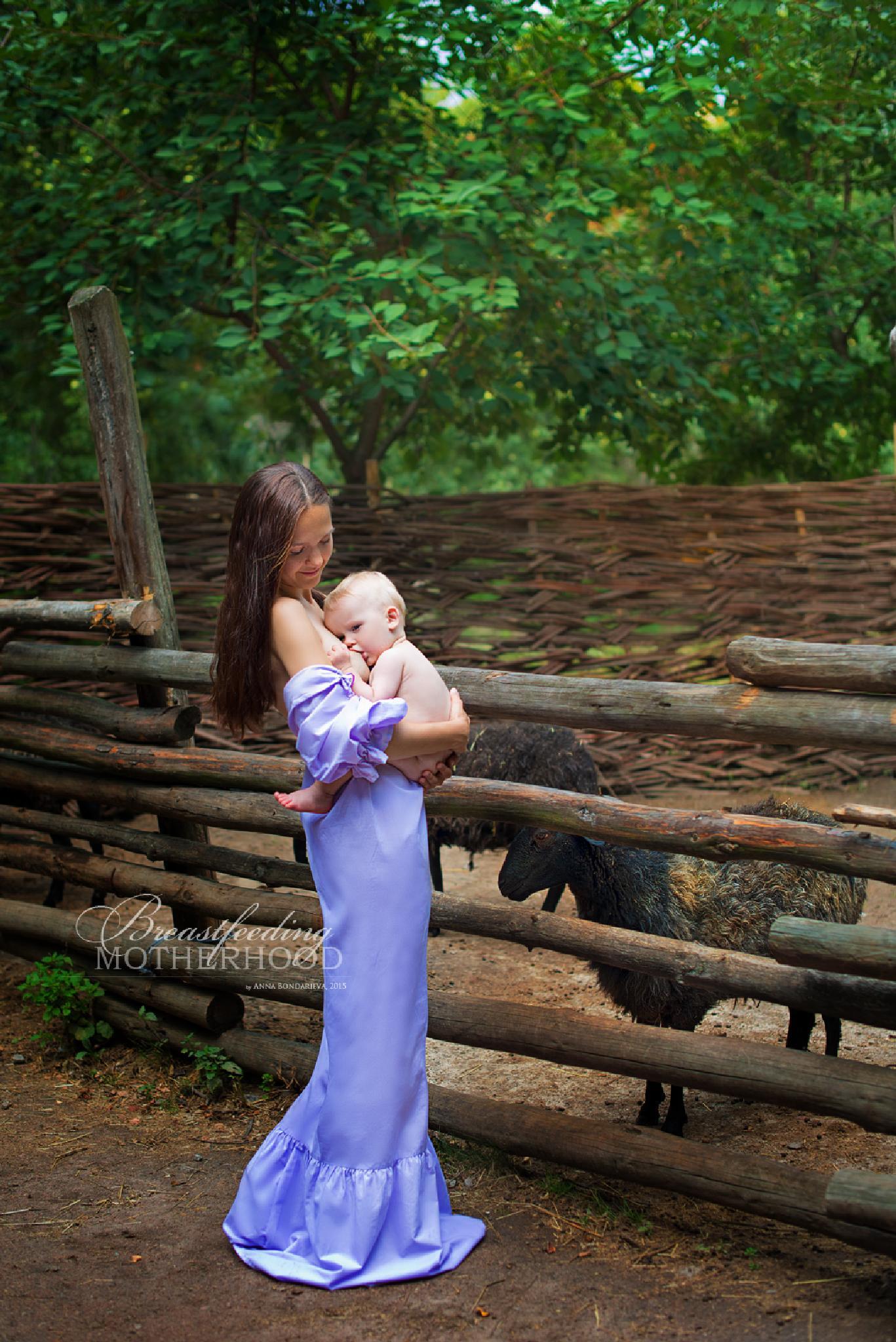 Breastfeeding MOTHERHOOD by Anna Bondareva