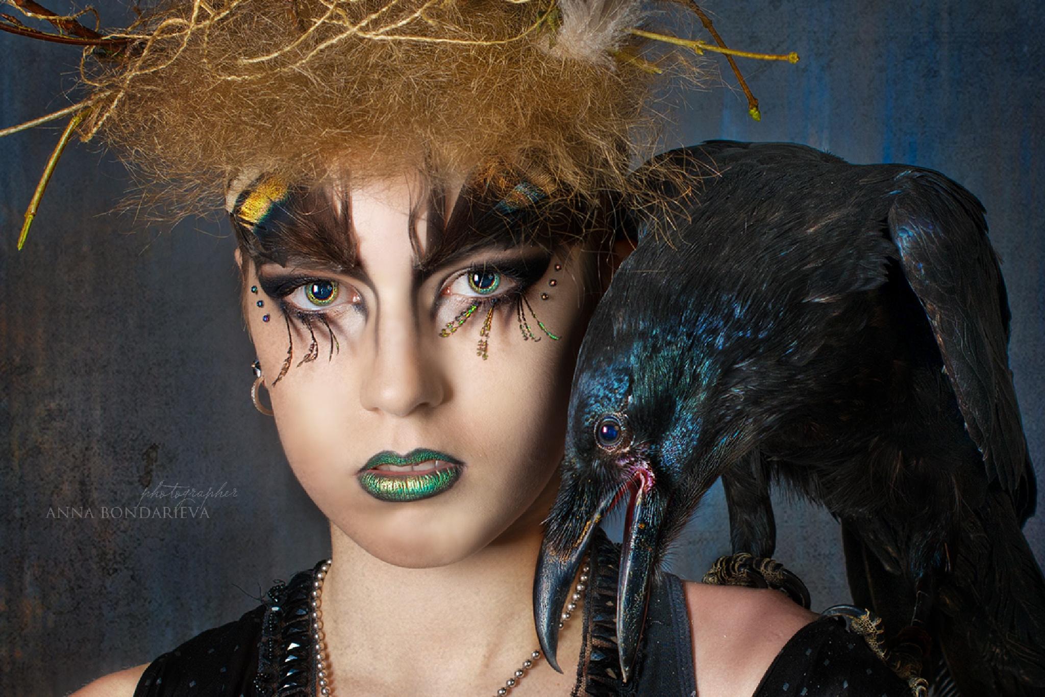 Her eyes Raven by Anna Bondareva