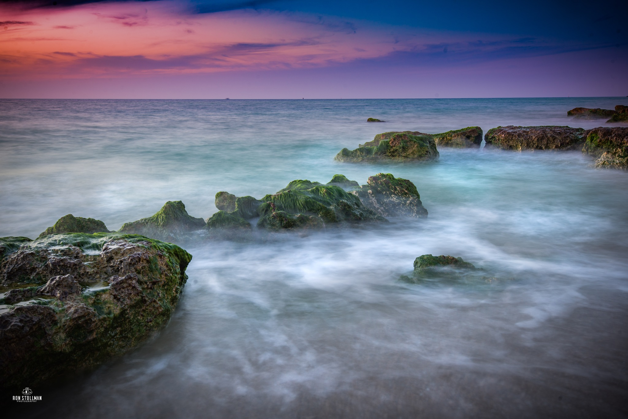 Misty Sunset by Ron Stollman
