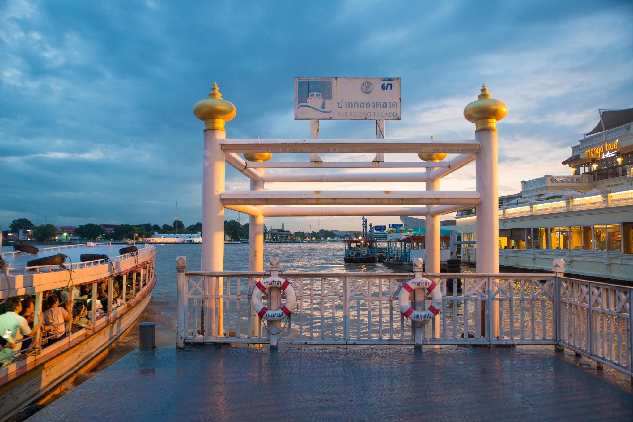 Bangkok Pier by Ron Stollman