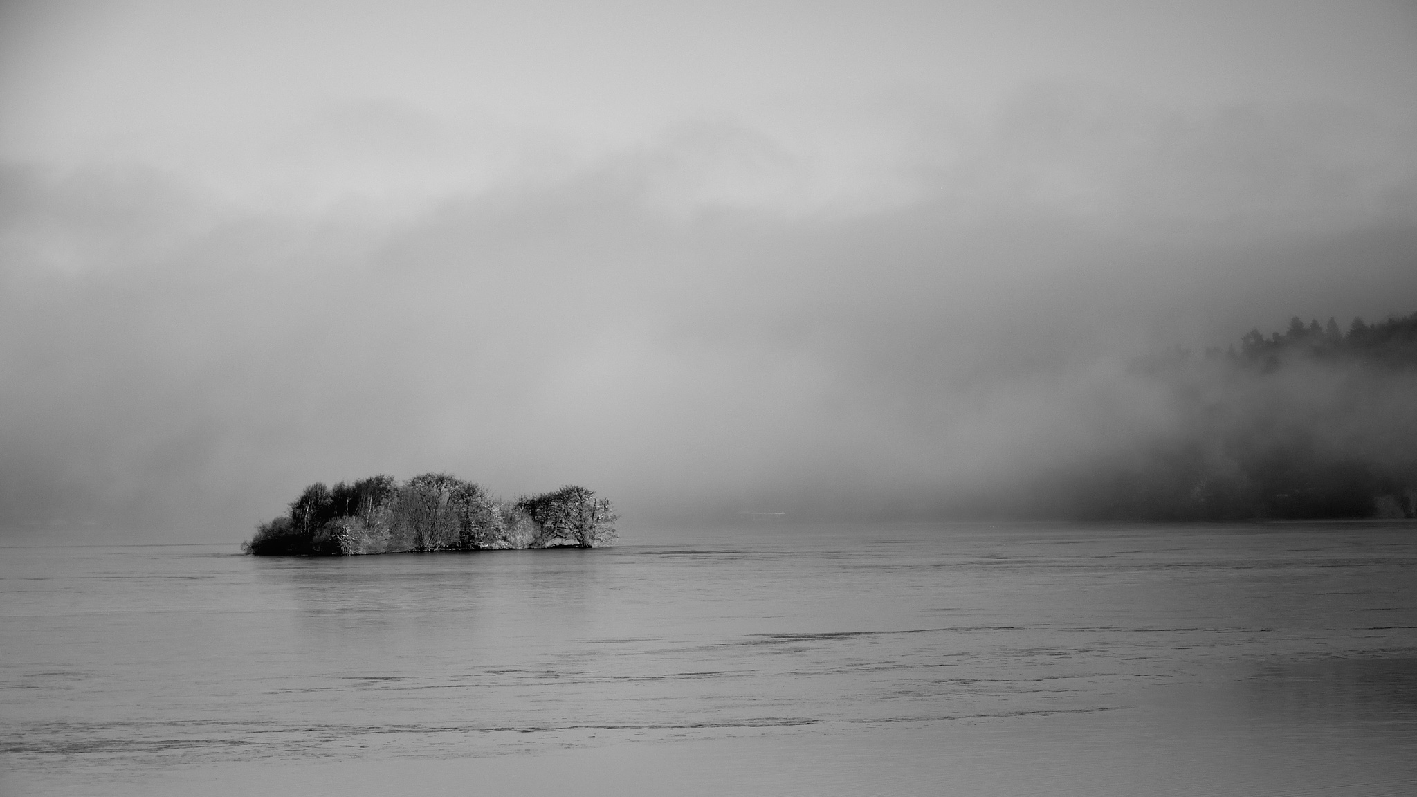 mist over the lake by Poul-Erik Riis