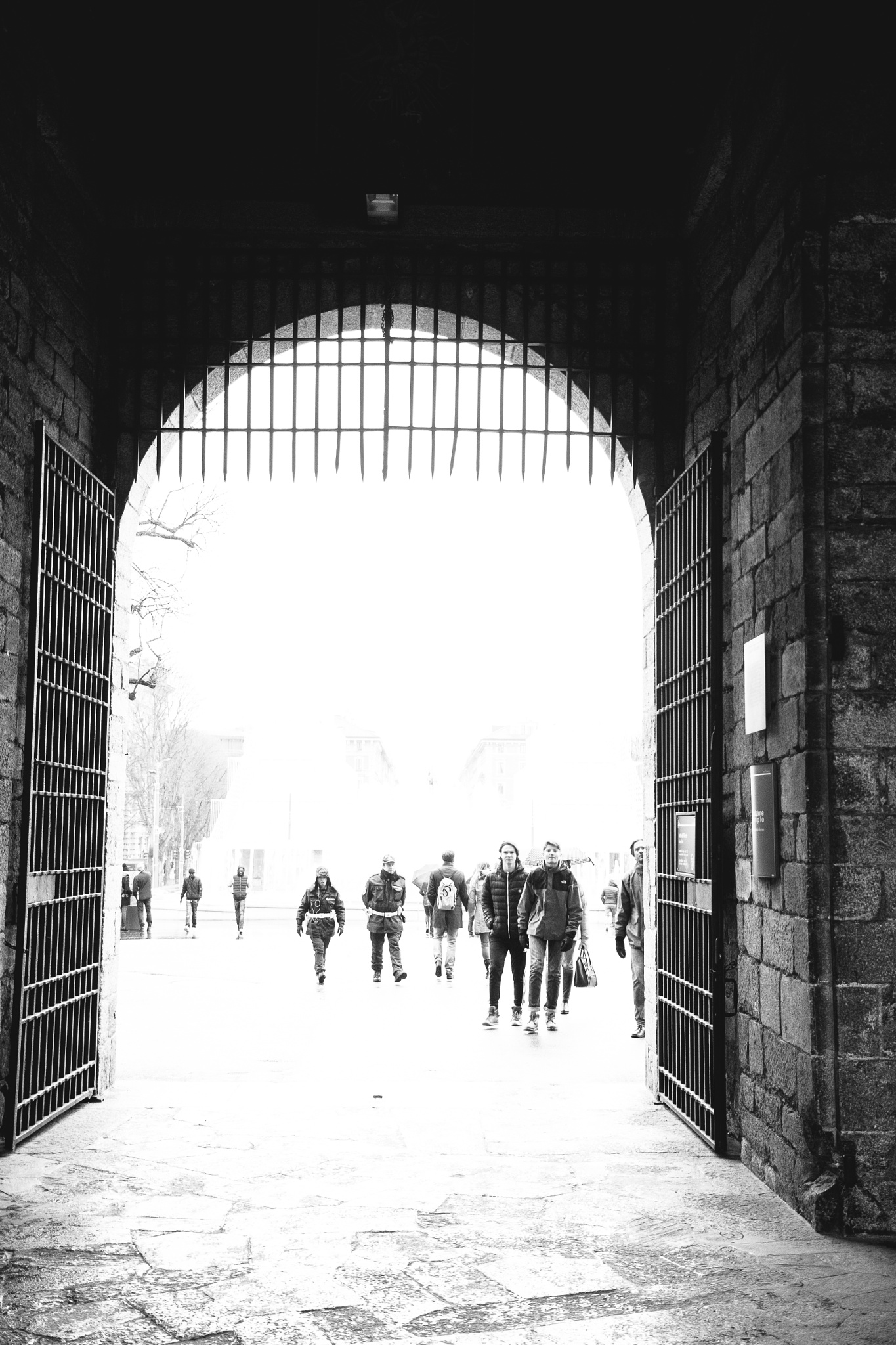 Photo in Black and White #gate #b&w #italy #milano #travel