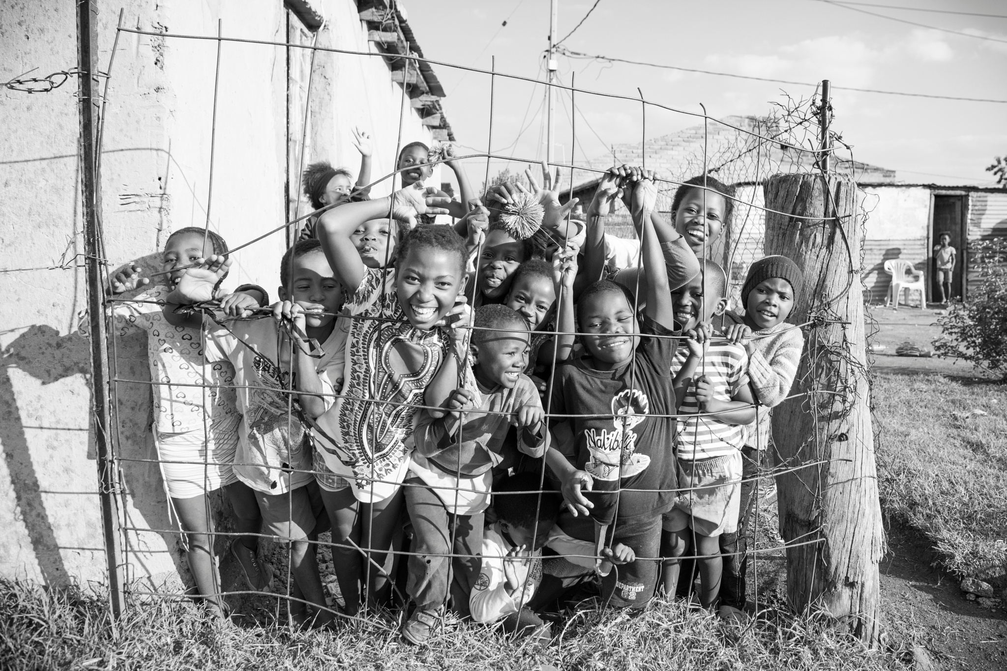 Photo in Black and White #our earth #our children #little angels #orange farm #walkabout