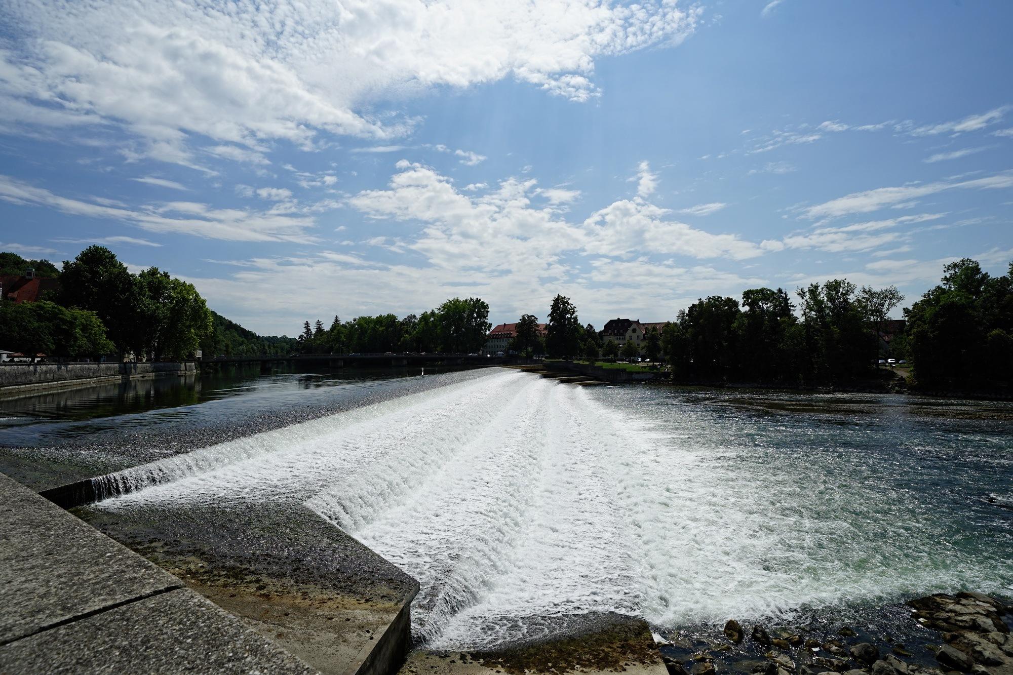 River Lech near Landsberg, Bavaria by WolfgangH
