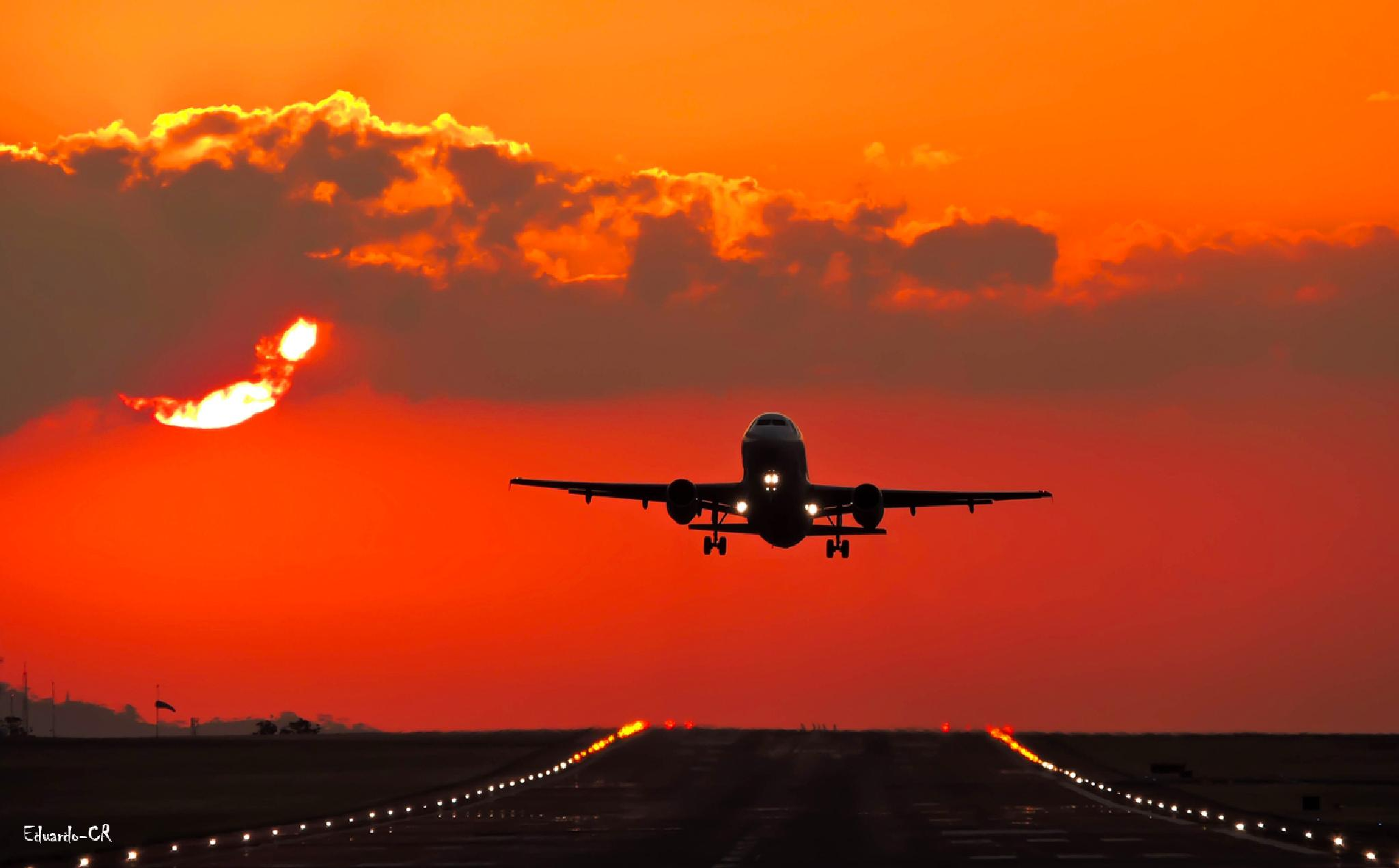 Sunset at the Airport by Eduardo Quesada