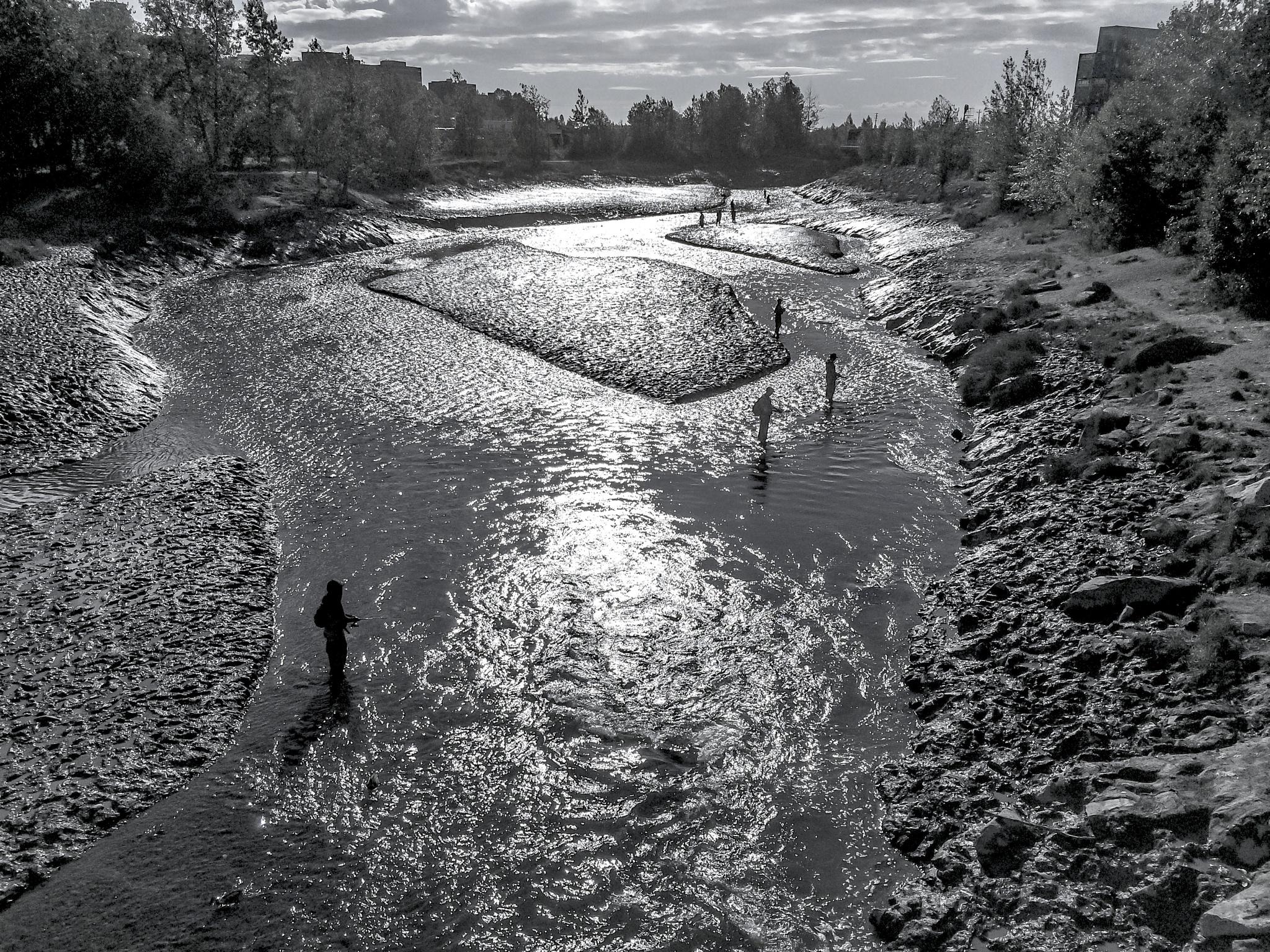 river fishing by Raini Sicher